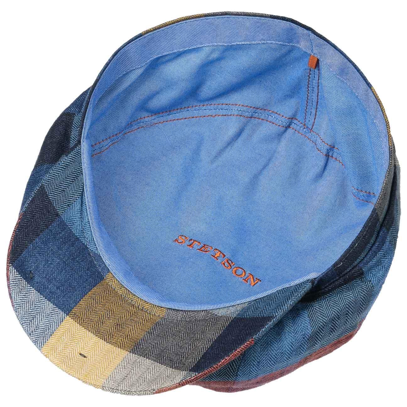 ... Hatteras Linen Check Flat Cap by Stetson - blue 3 ... c008e2b36ec0
