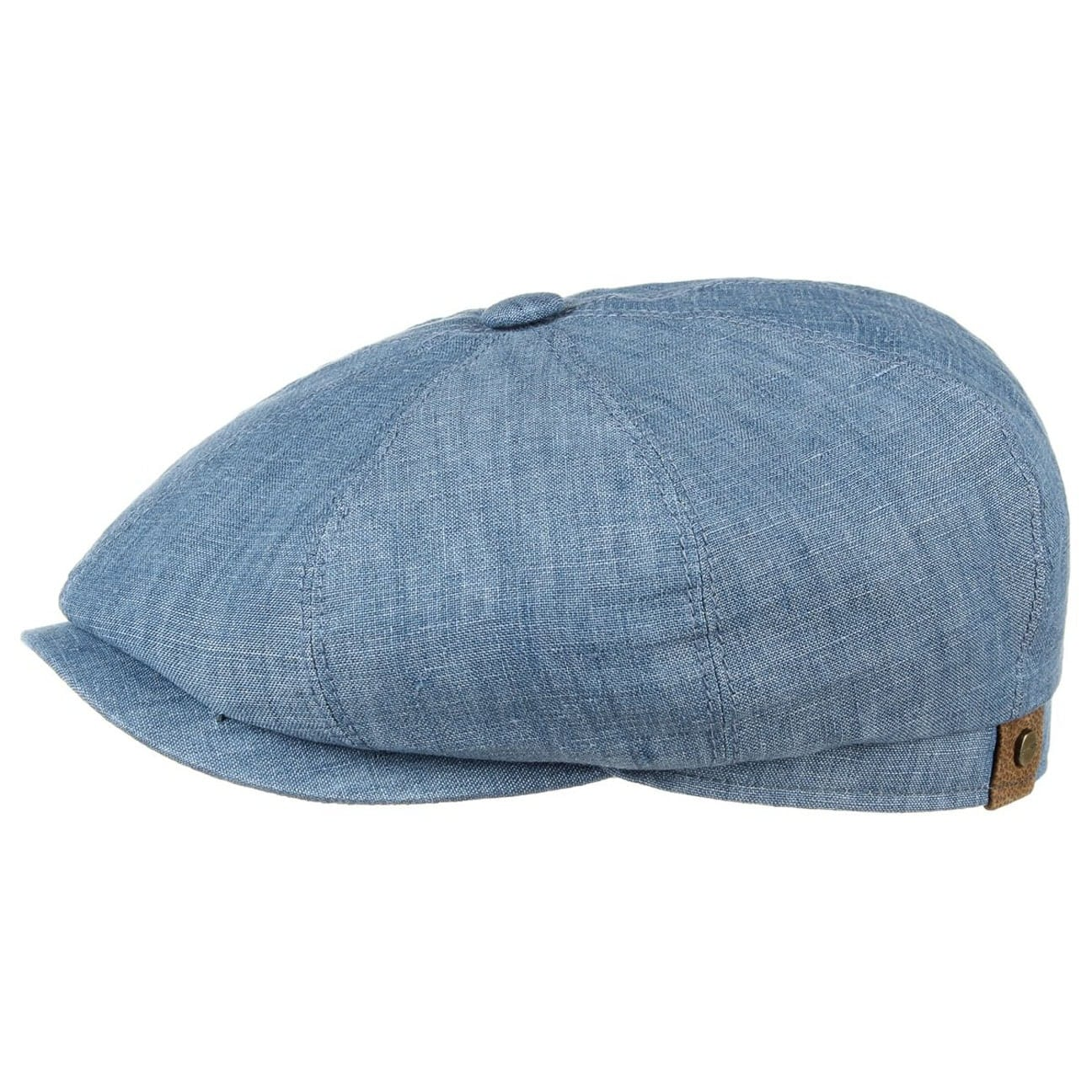 fcb8bb84 ... Hatteras Linen Newsboy Cap by Stetson - light blue 1 ...