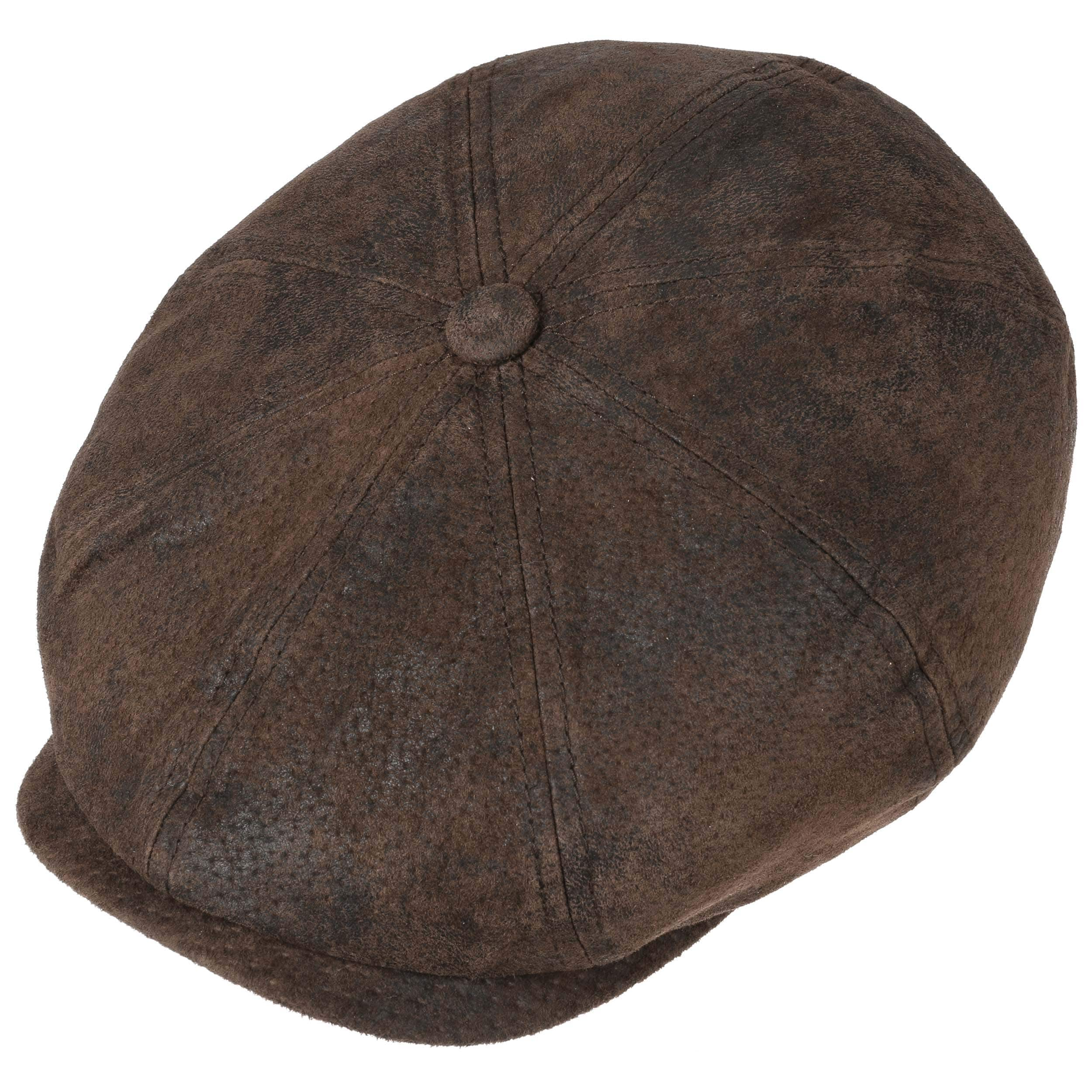 5d13b68b Hatteras Pigskin Leather Cap by Stetson - brown 1 ...