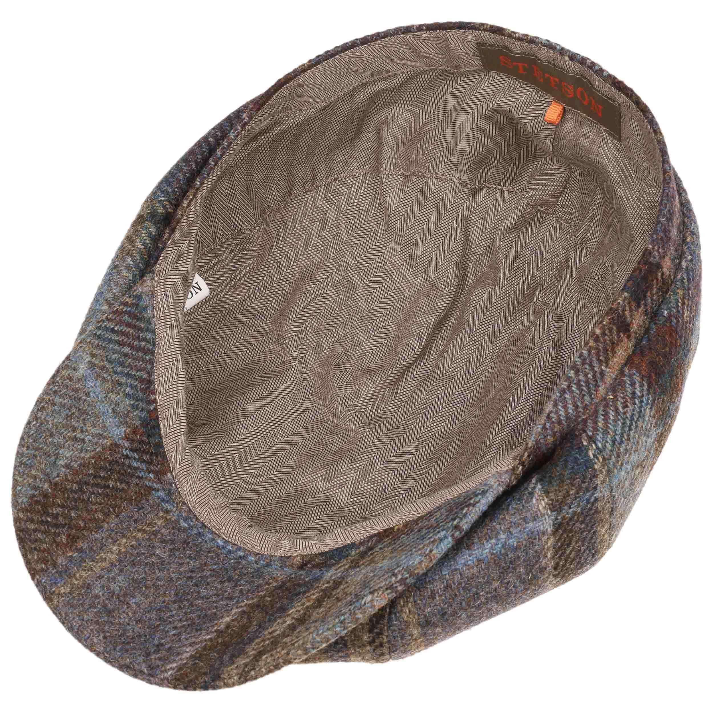 ... Hatteras Virgin Wool Check Cap by Stetson - blue 2 ... 2b90b8fc3a35