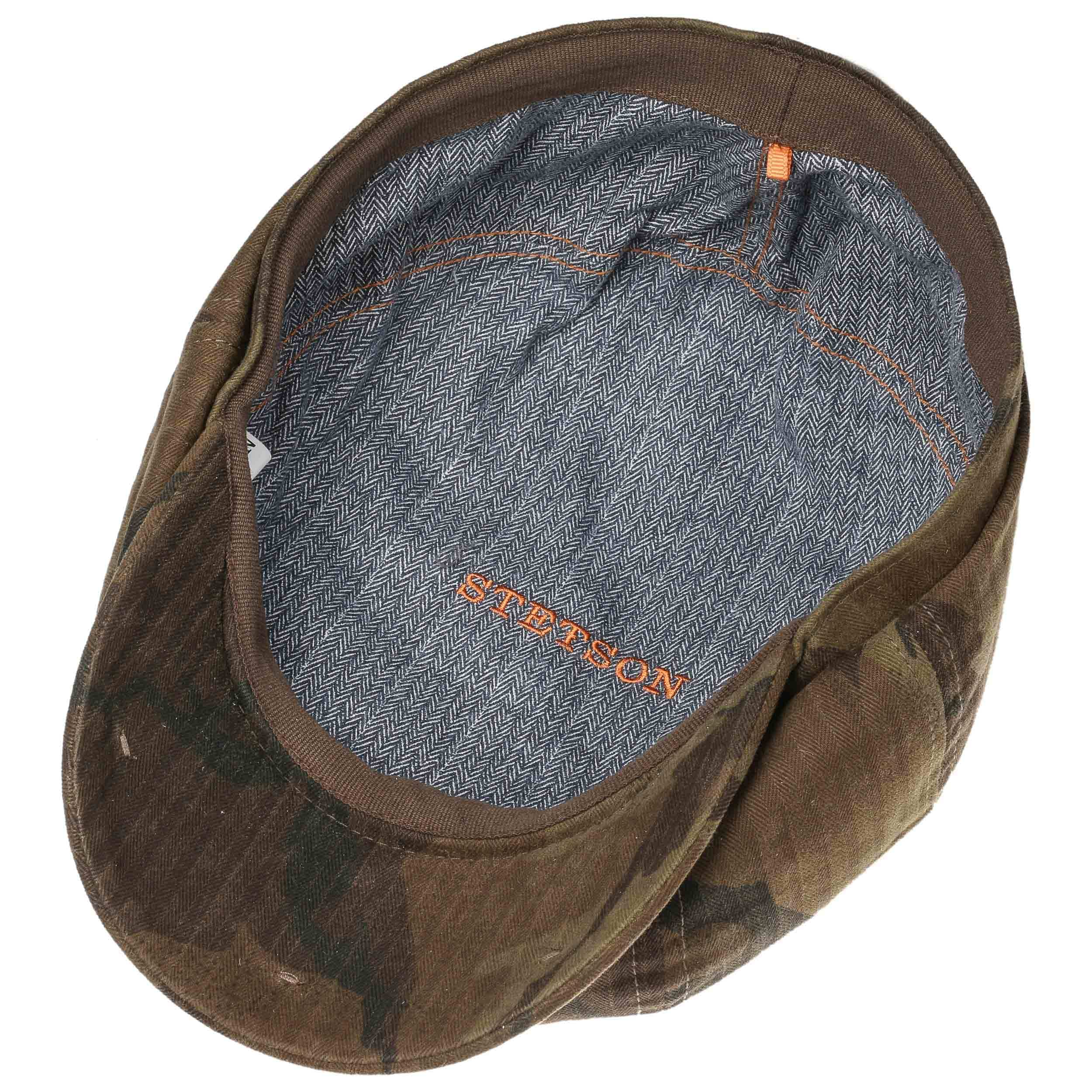 6c19f48efedb7 ... Hatteras Waxed Cotton Camo Flat Cap by Stetson - camouflage 2 ...