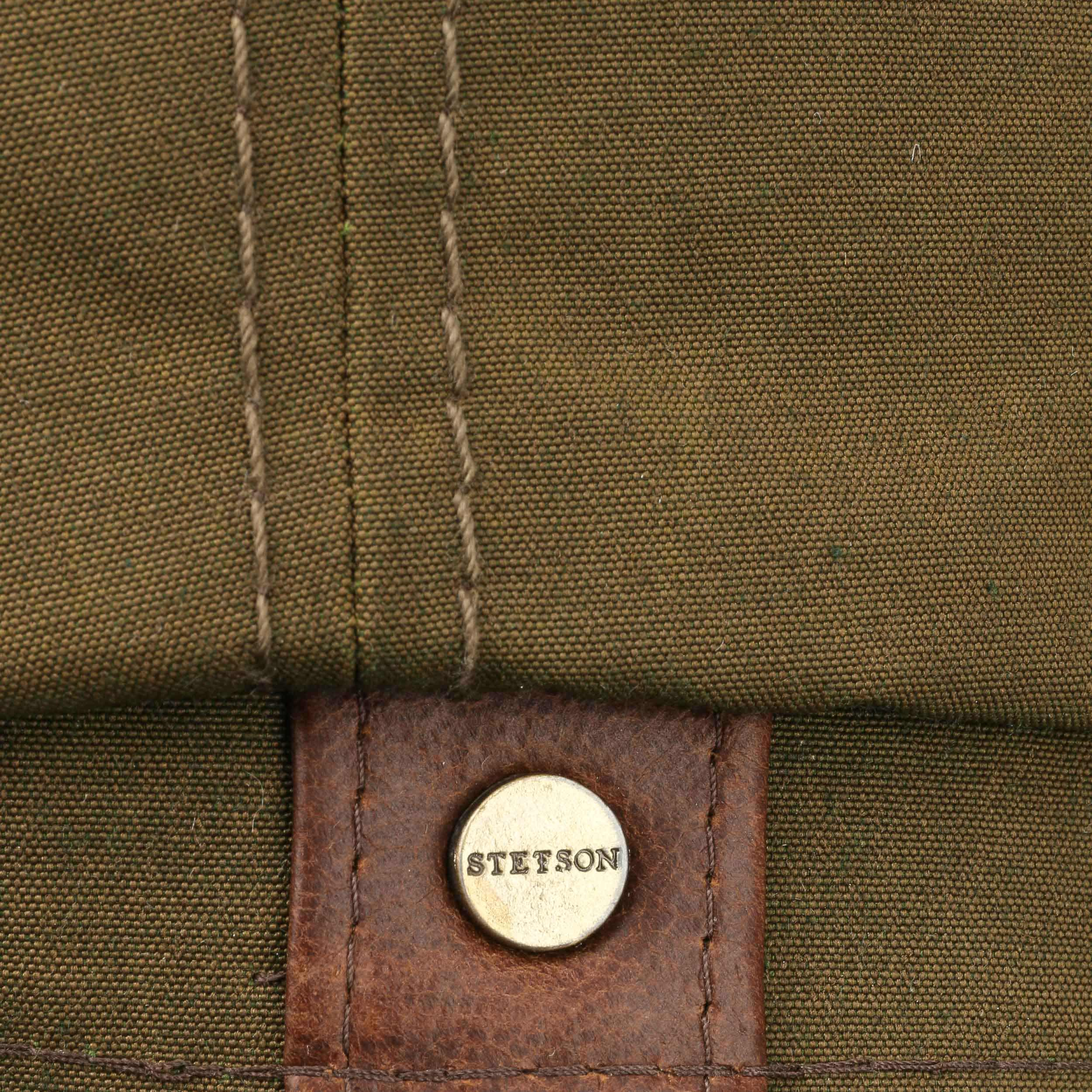 b046d929495 ... Hatteras Waxed Cotton Outdoor Cap by Stetson - olive 3 ...