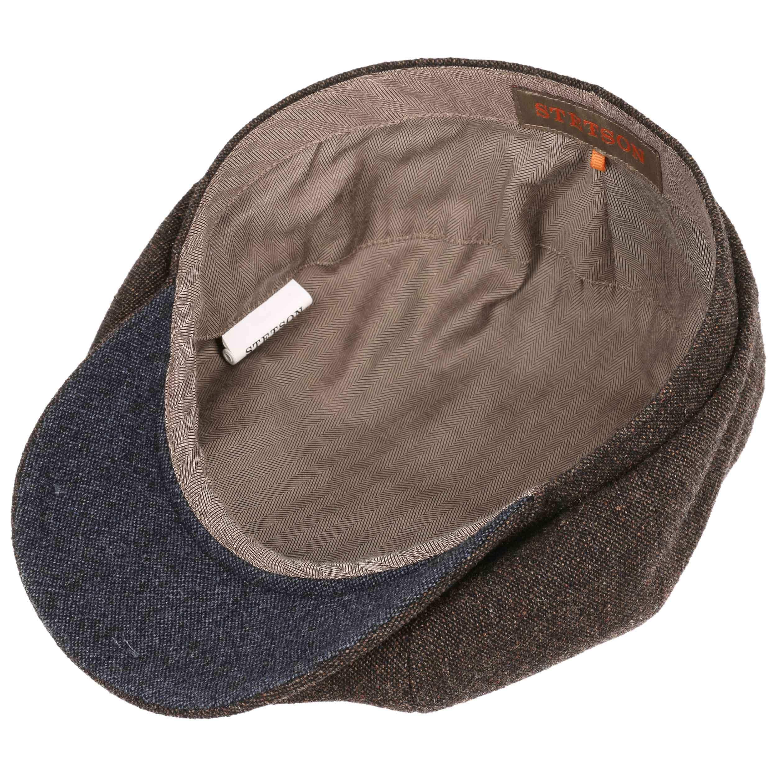 d1d71553 ... Hatteras Wool Cashmere Flat Cap by Stetson - brown-mottled 3 ...