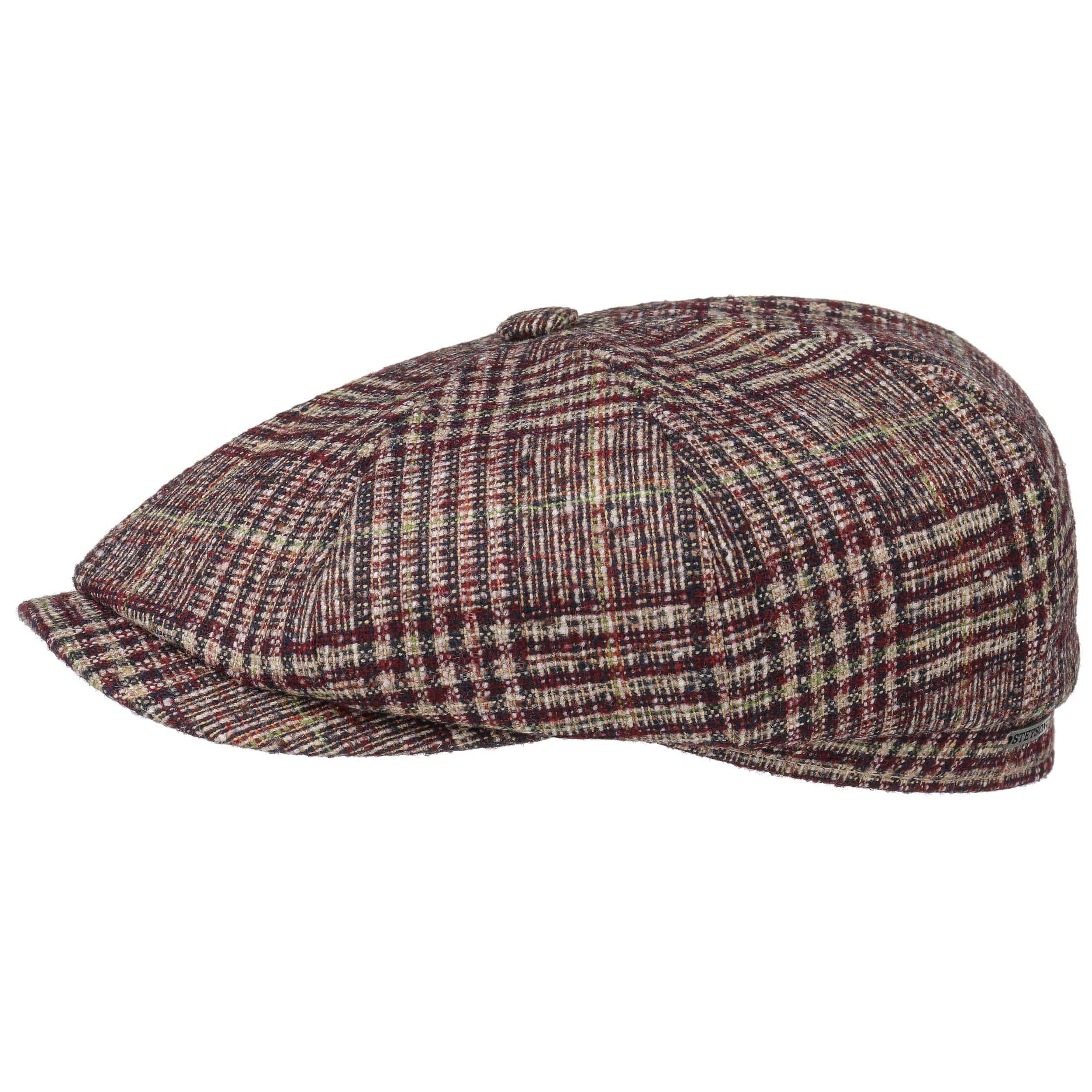 ... Hatteras Wool Plaid Flat Cap by Stetson - dark red 1 ... 9820a945402