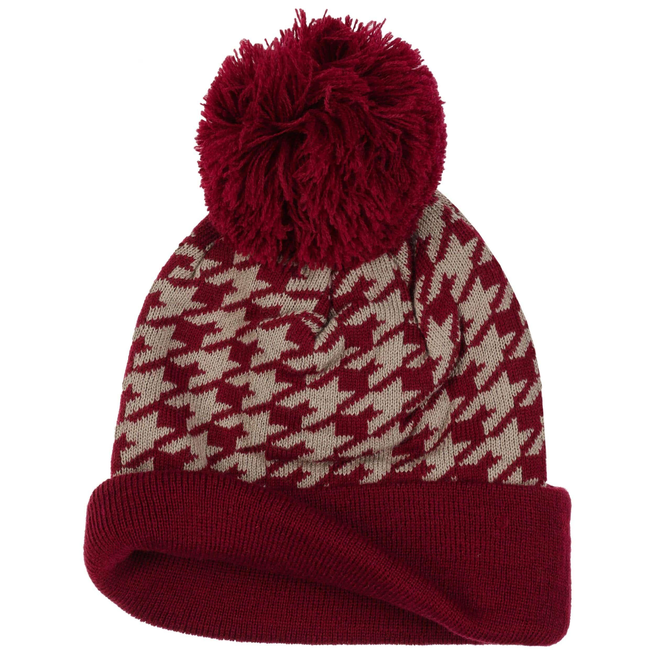 298ff6e3679 Houndstooth Pompom Hat - navy 1 · Houndstooth Pompom Hat - bordeaux 1 ...