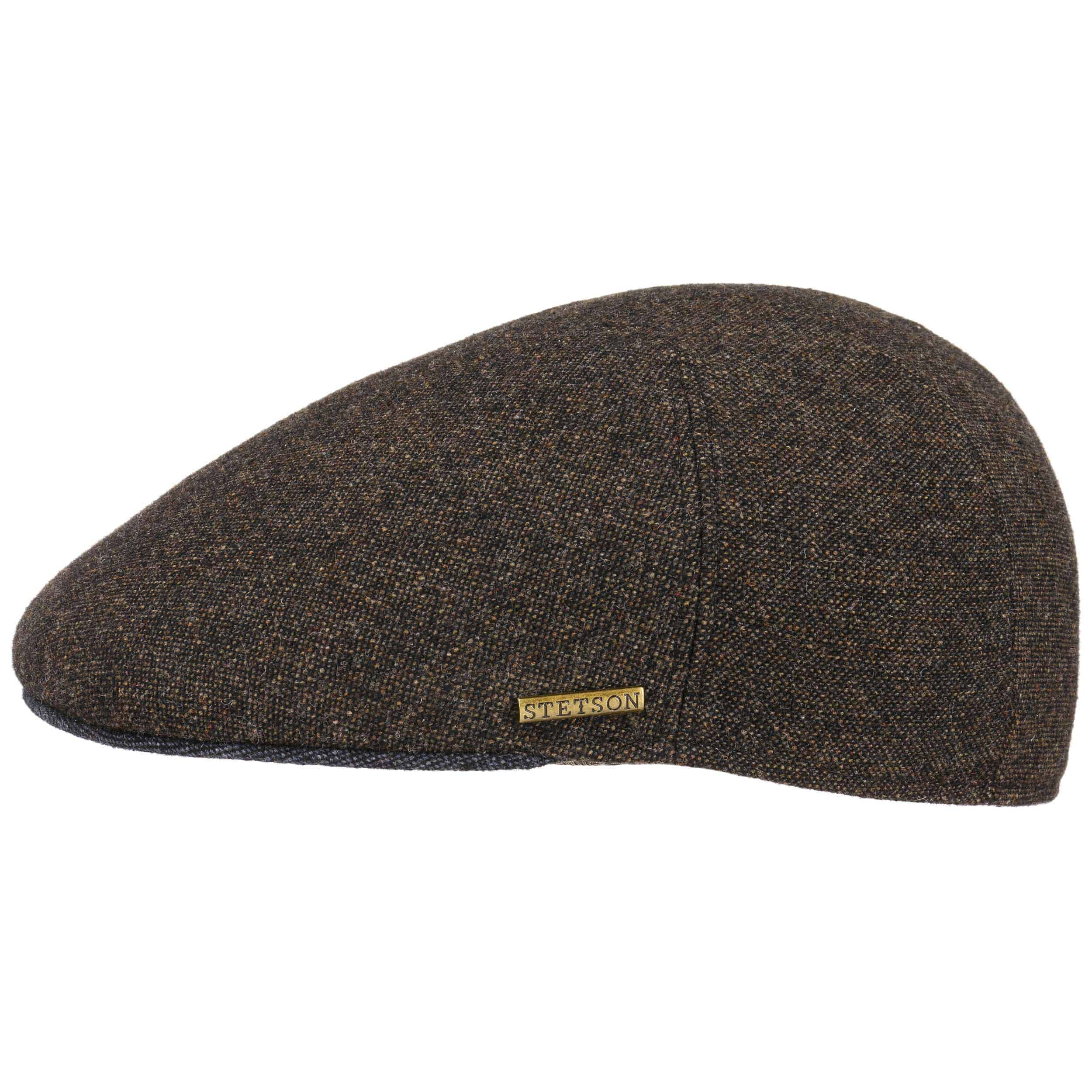 0e02fe6a352 ... Ivy Wool Flat Cap With Cashmere by Stetson - brown-mottled 5 ...