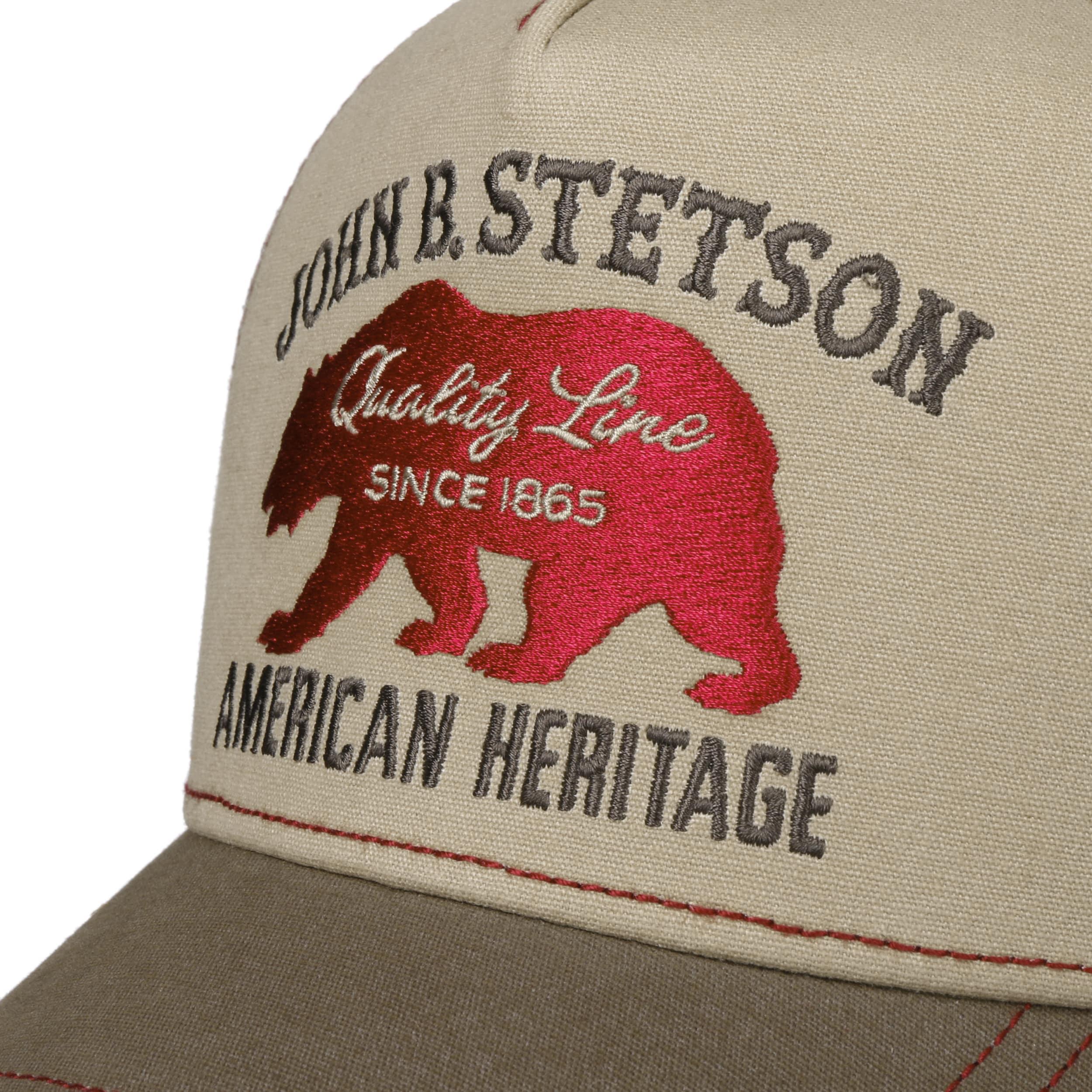 ... JBS-Bear Trucker Cap by Stetson - beige 4 ... 62faa10615d