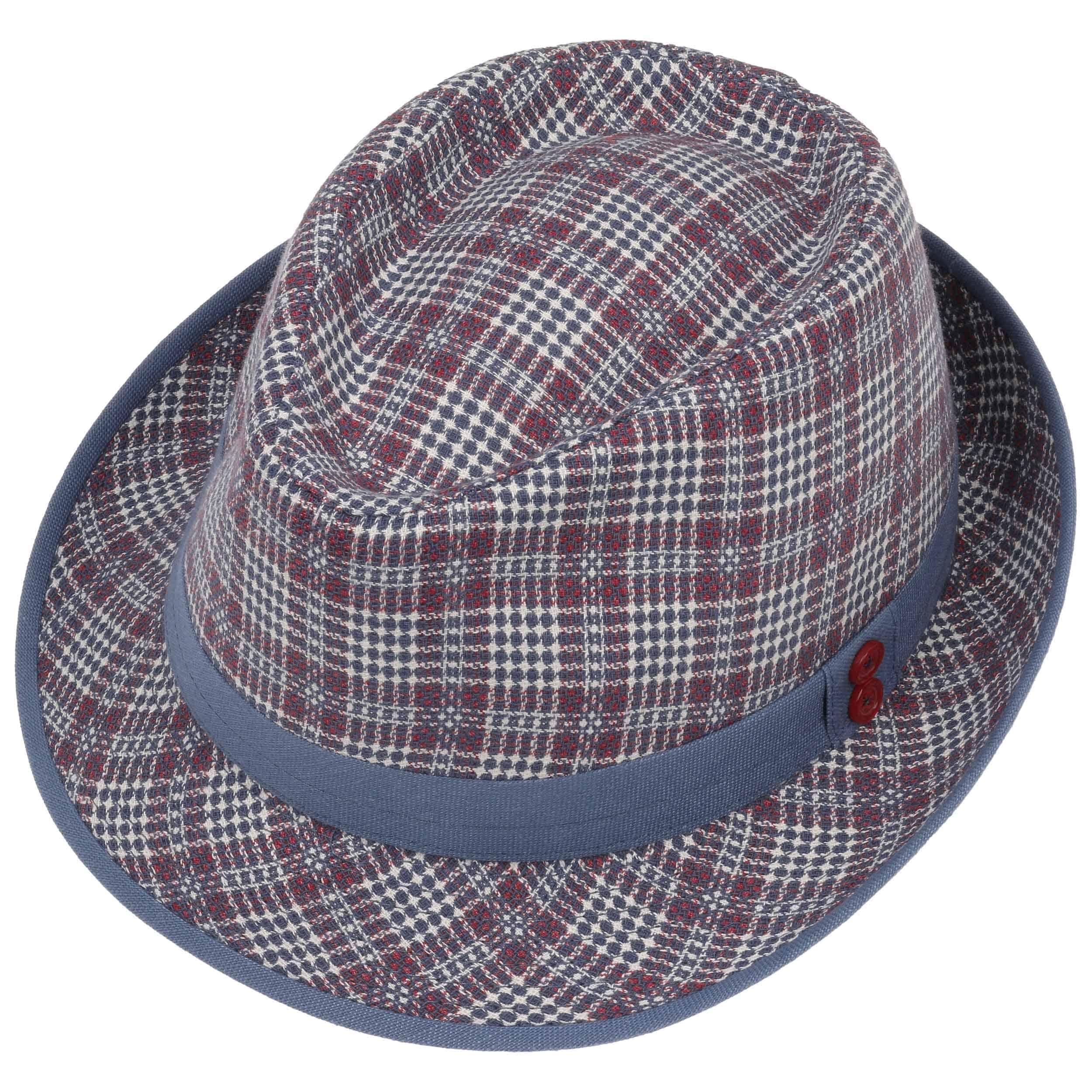 Jeffers Check Trilby Cloth Hat by Lierys Trilby hats Lierys YAu4OuSkZJ