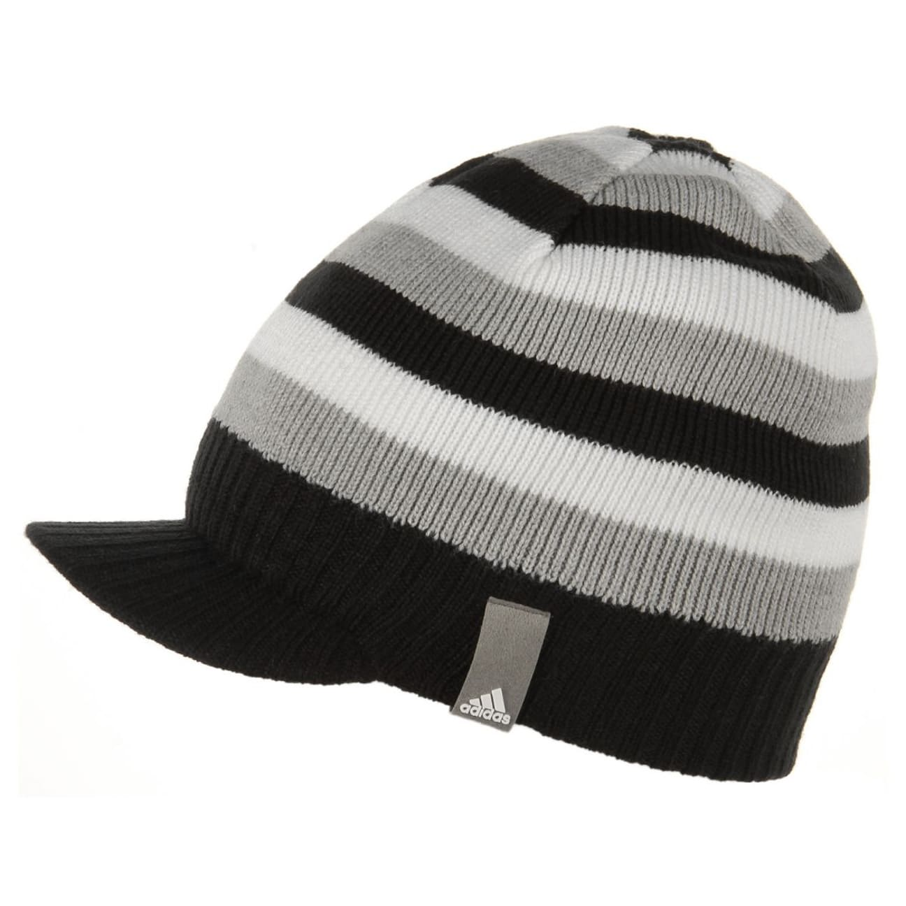 ... KIDS Stripy Visor Beanie by adidas - black 1 a09da138de6