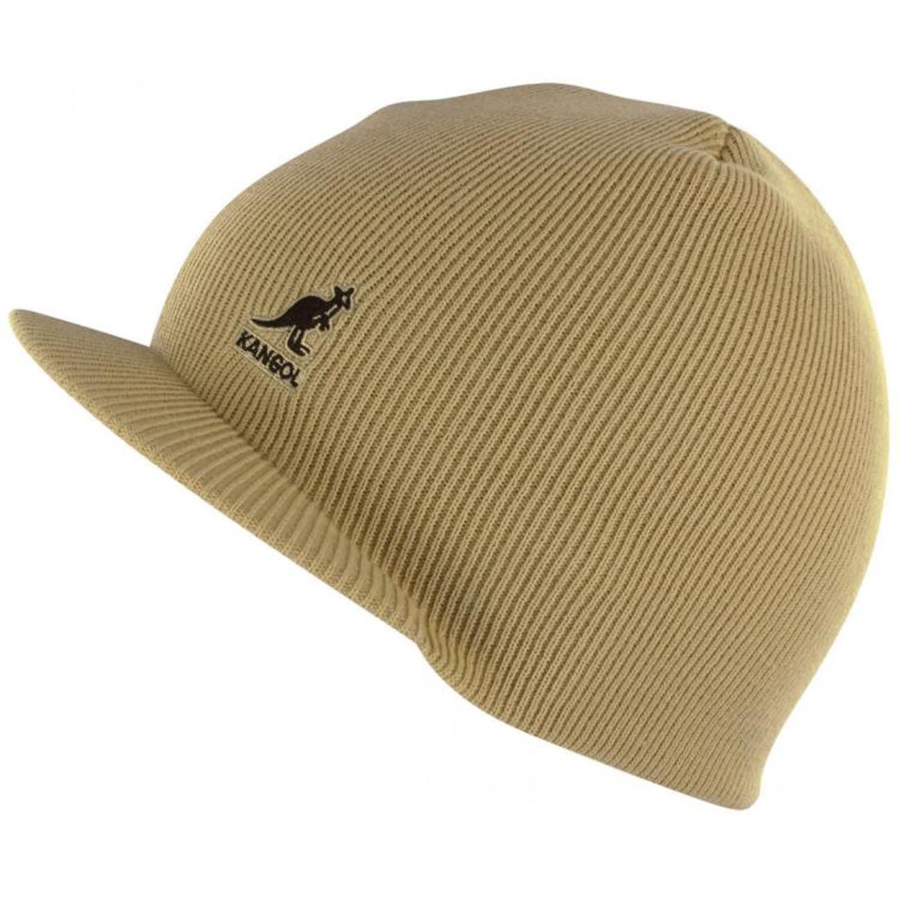 ... Kangol Acrylic Cuffless Pull On with Peak - beige 1 ... 9f6a0faf2254