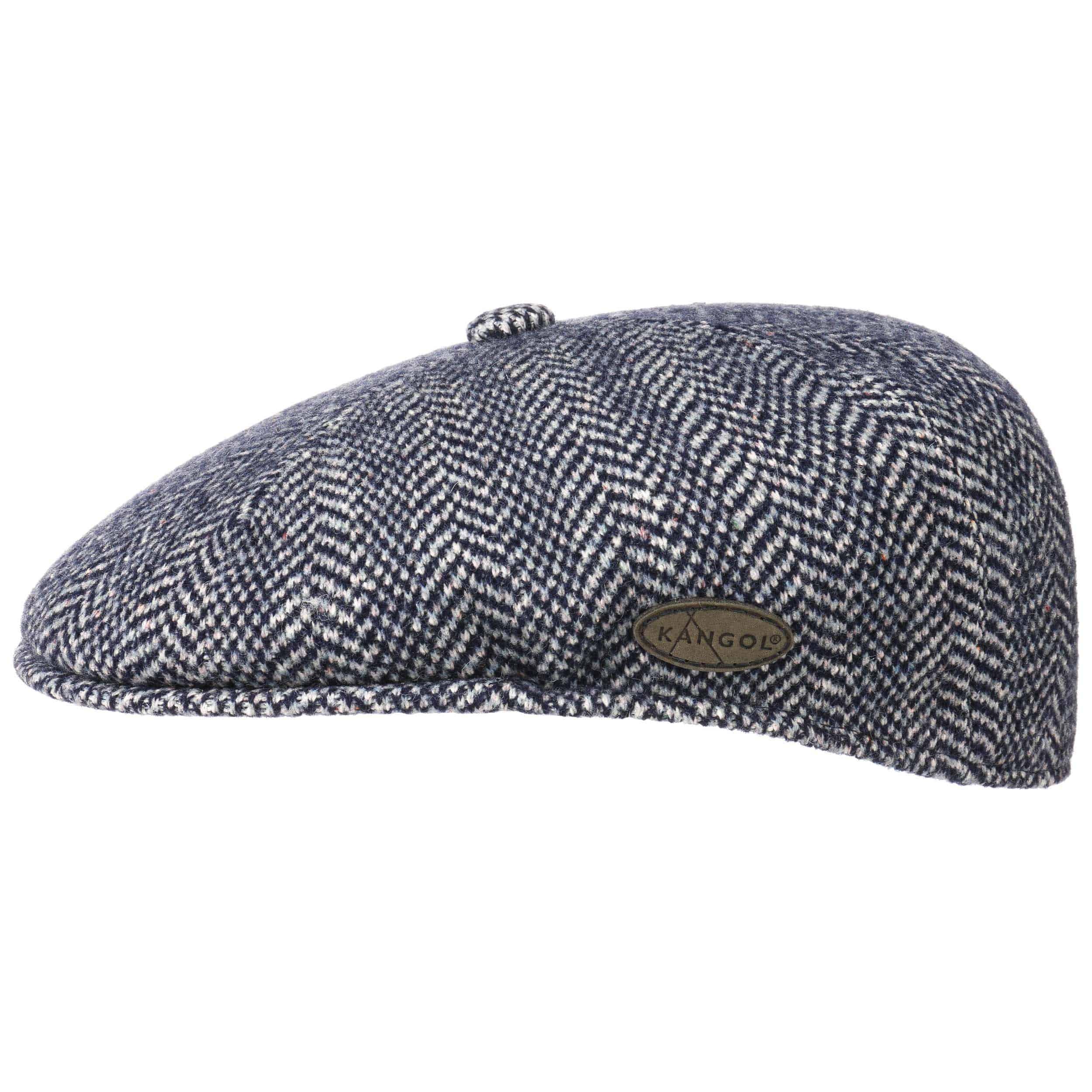 ... Kangol Herringbone 504 Flat Cap - black 6 f496f42f9f19