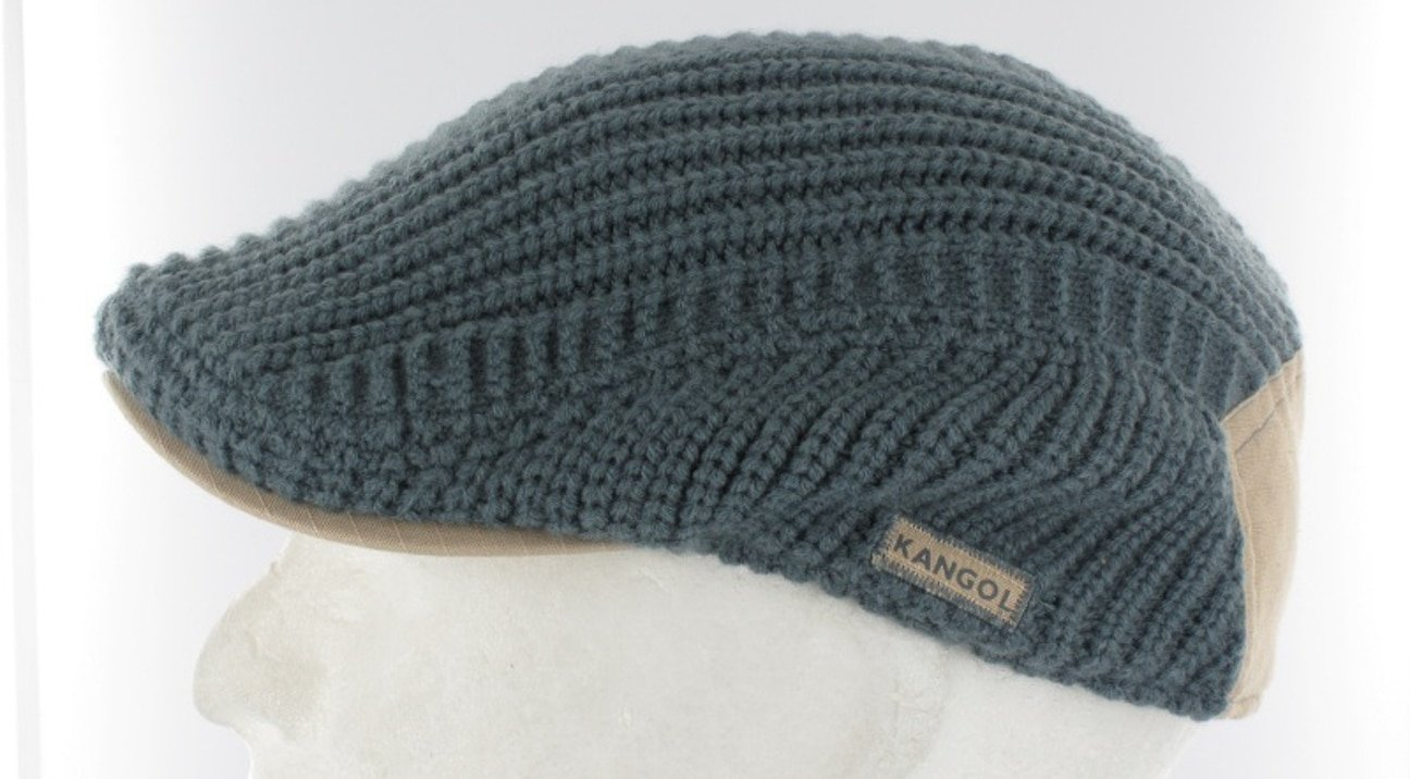 Kangol Military Knit Flat Cap - grey 1 ... 82113da5b37