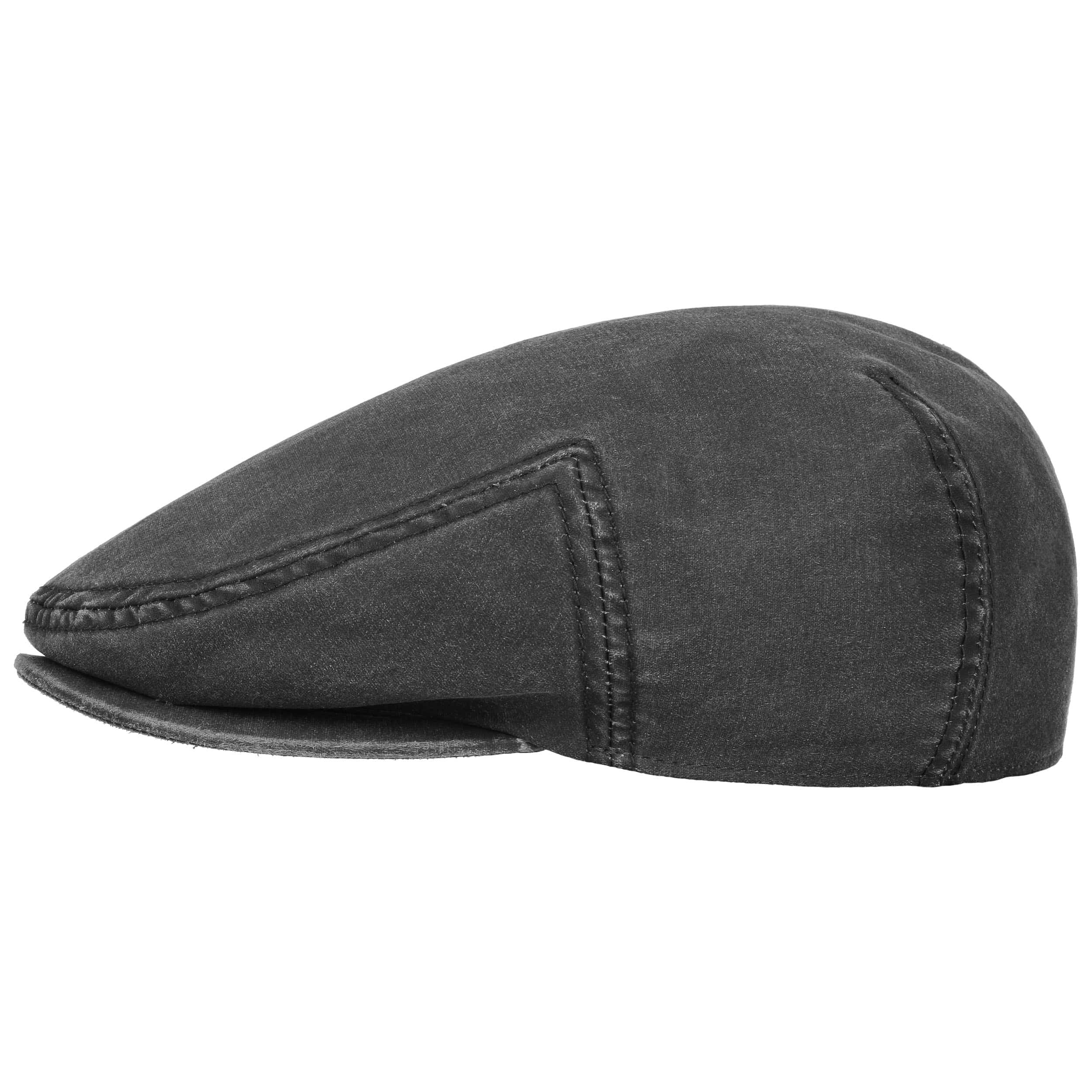 6525ff2eaca137 ... Kent Flat Cap with Ear Flaps by Stetson - black 5 ...
