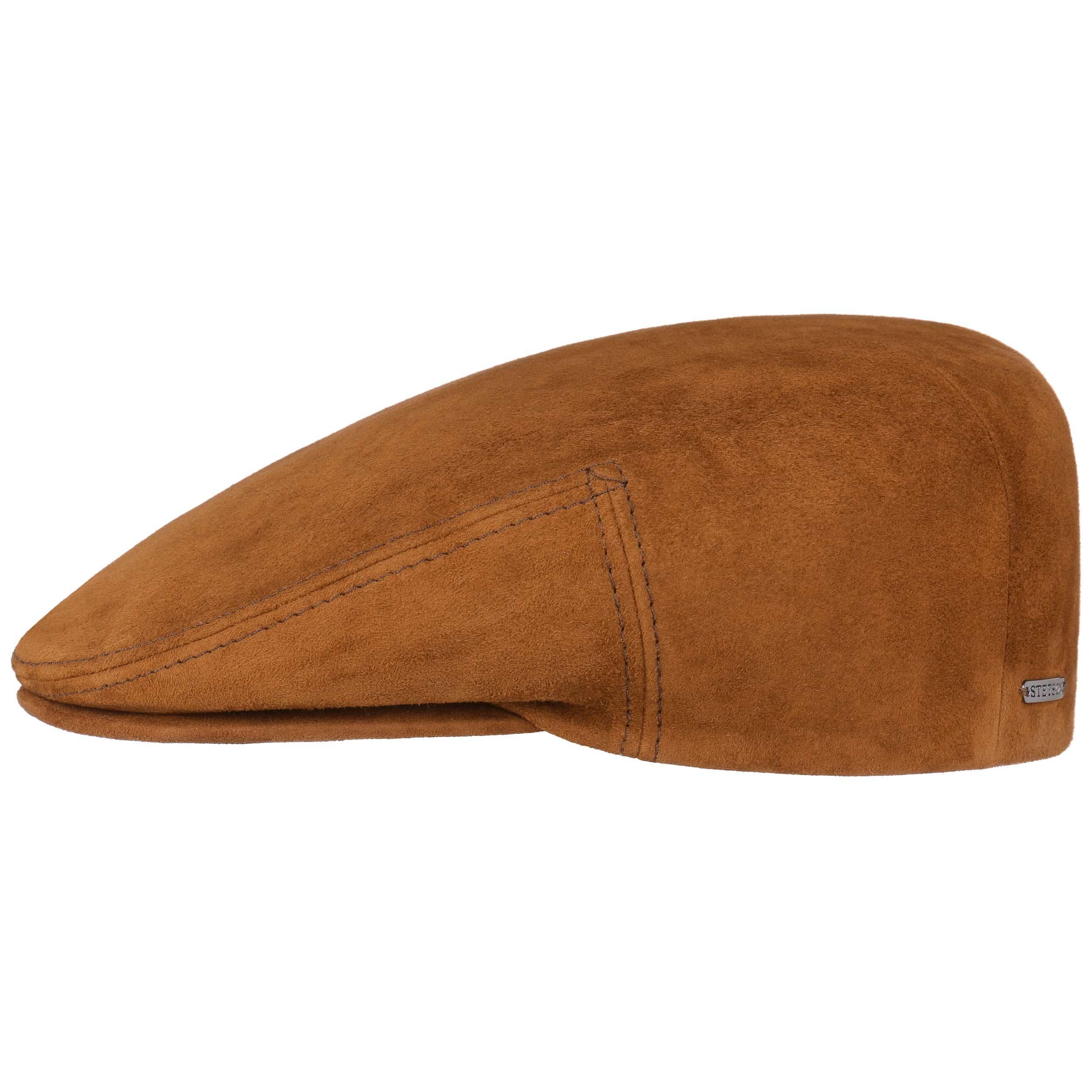e94e7890cf3 ... Kent Goat Leather Flat Cap by Stetson - cognac 1 ...