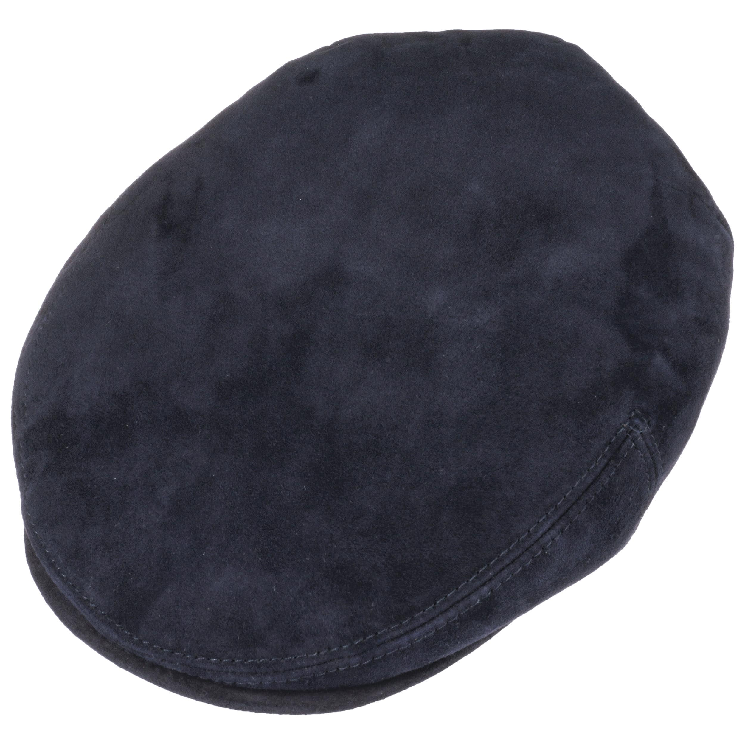 2d1b8490da9 Kent Goat Leather Flat Cap by Stetson - navy 1 ...