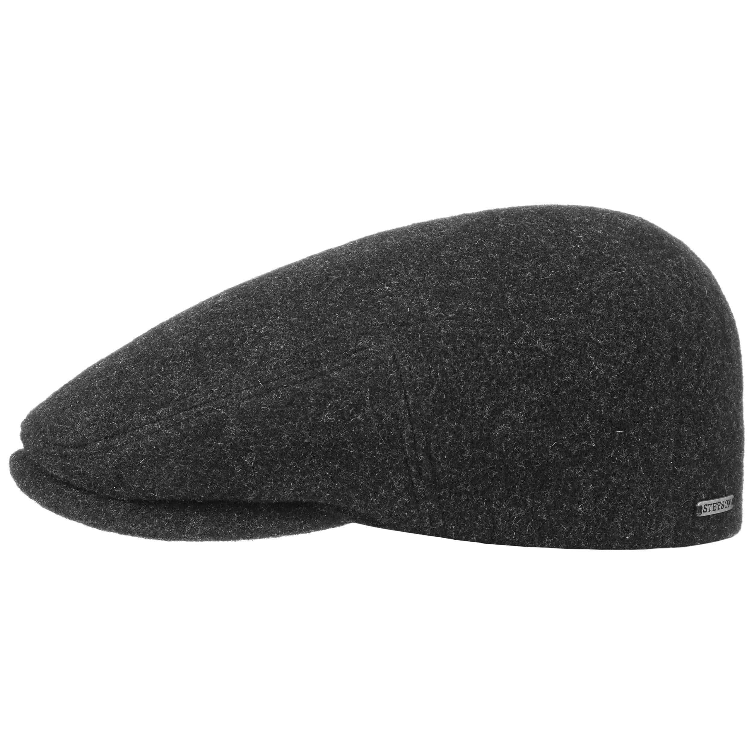 ... Kent Wool Earflaps Flat Cap by Stetson - anthracite 6 ... 5e7d0dbacad