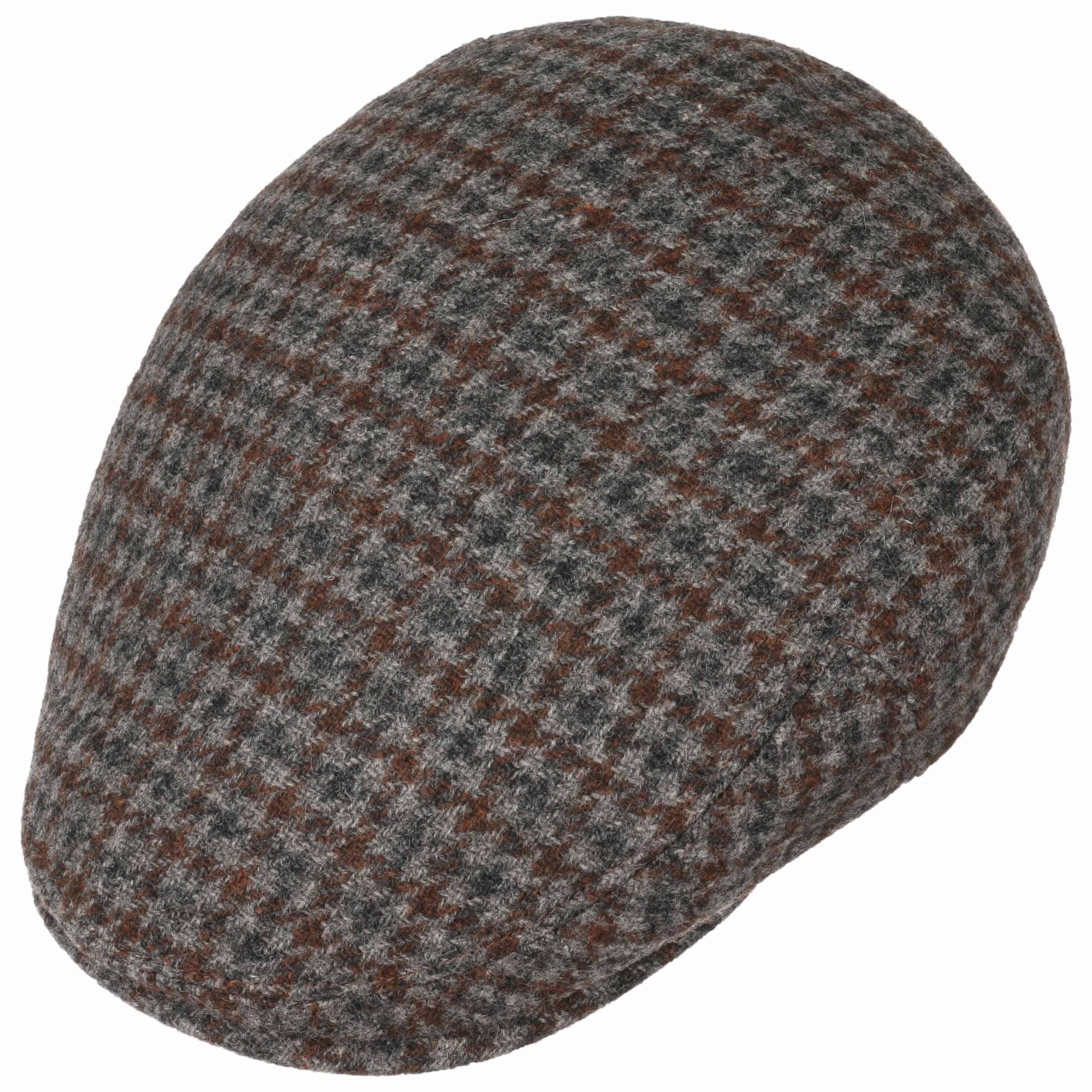 6edf51ea ... Kent Wool Earflaps Flat Cap by Stetson - grey-brown 2 ...
