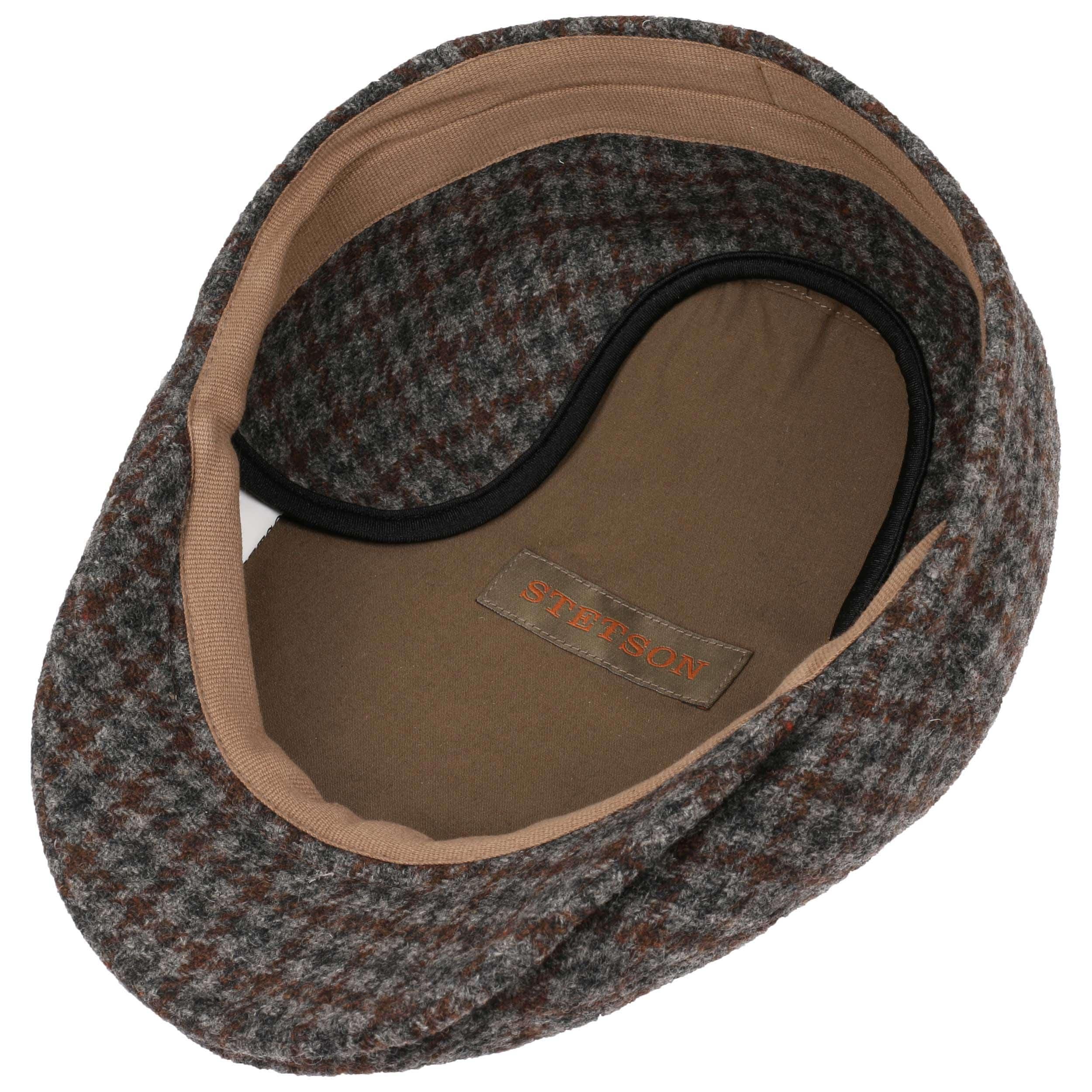 710f95e837144 ... Kent Wool Earflaps Flat Cap by Stetson - grey-brown 2 ...