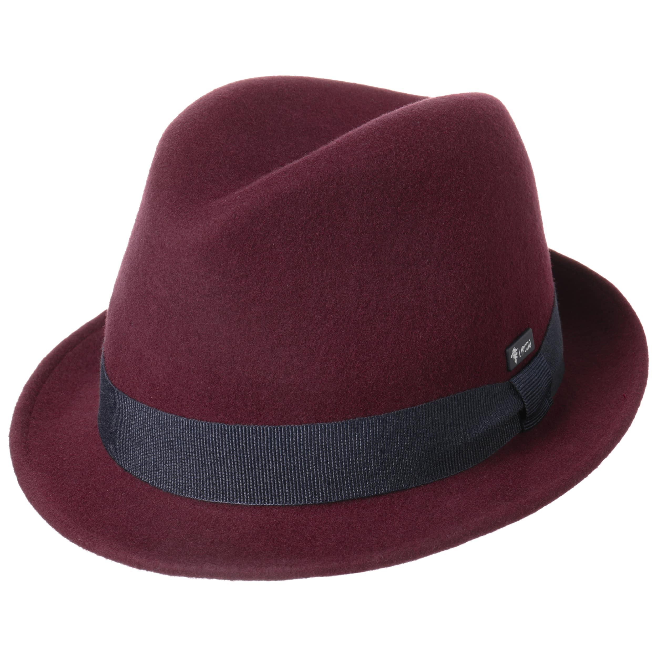 83938d200a3 ... Kids Wool Felt Trilby Hat by Lipodo - bordeaux 5 ...