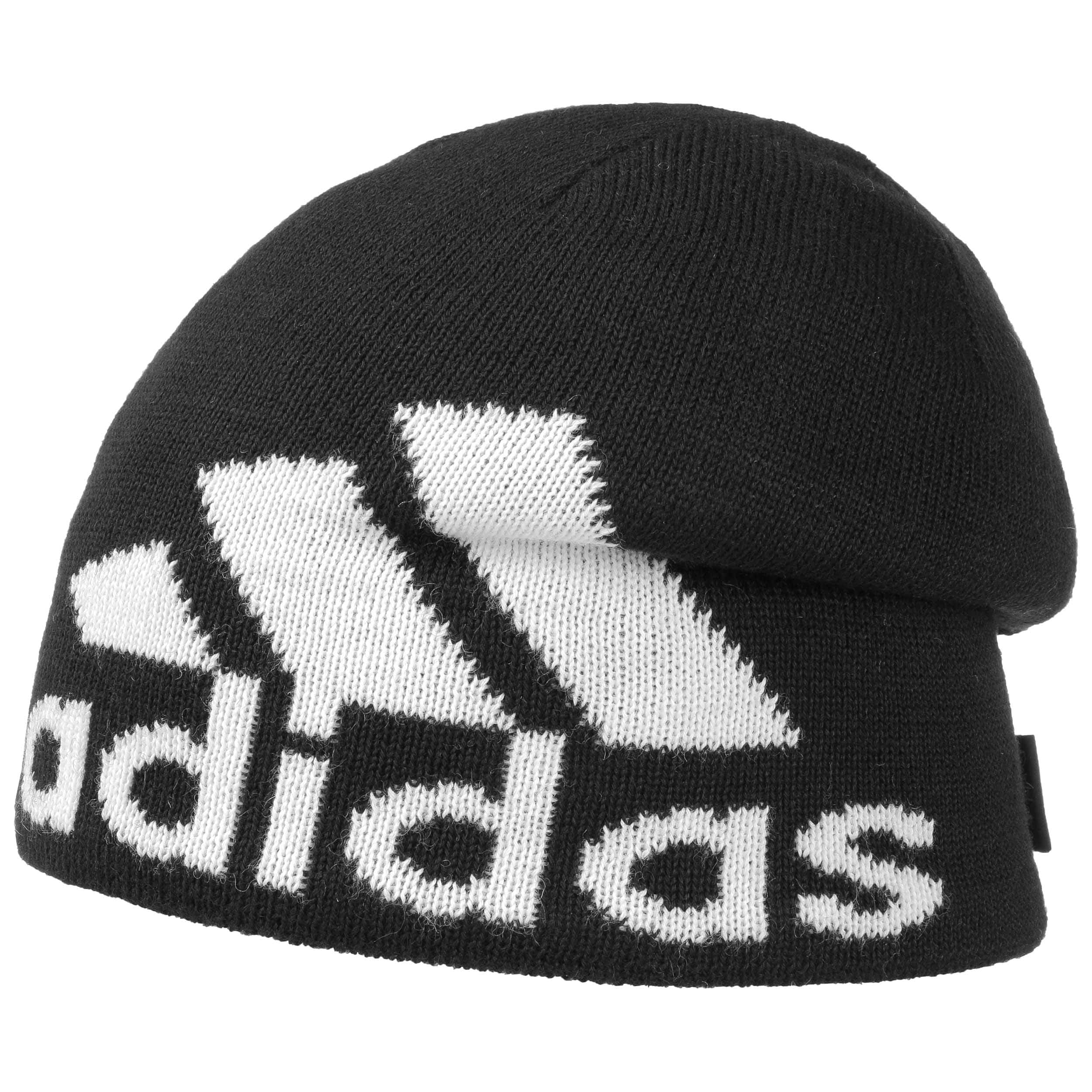 0b2c4dbf3 ... Knit Logo Beanie by adidas - black-white 3 ...