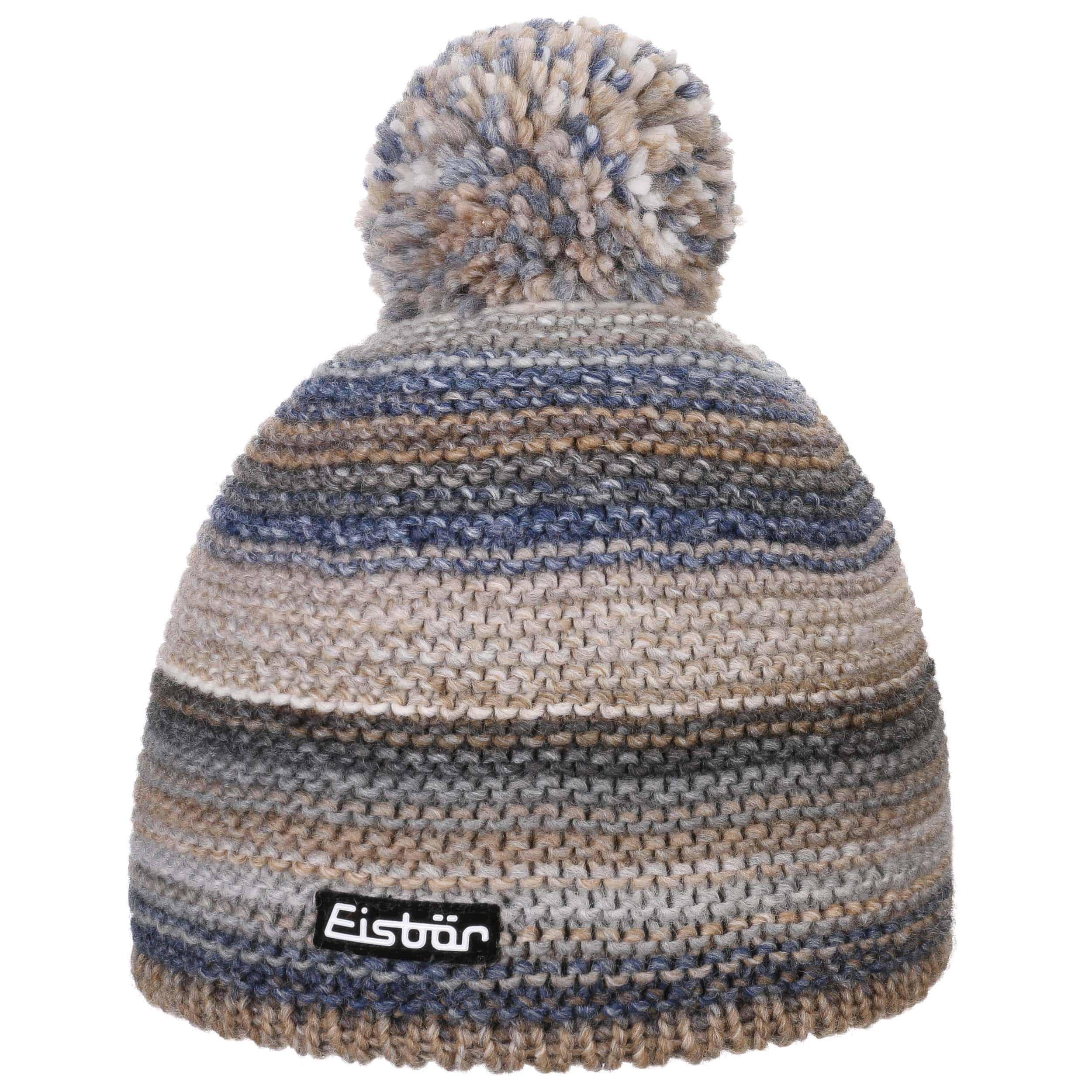 ... Kunita Pom Pom Hat by Eisbär - beige-blue 4 ... 8b464c70bc1