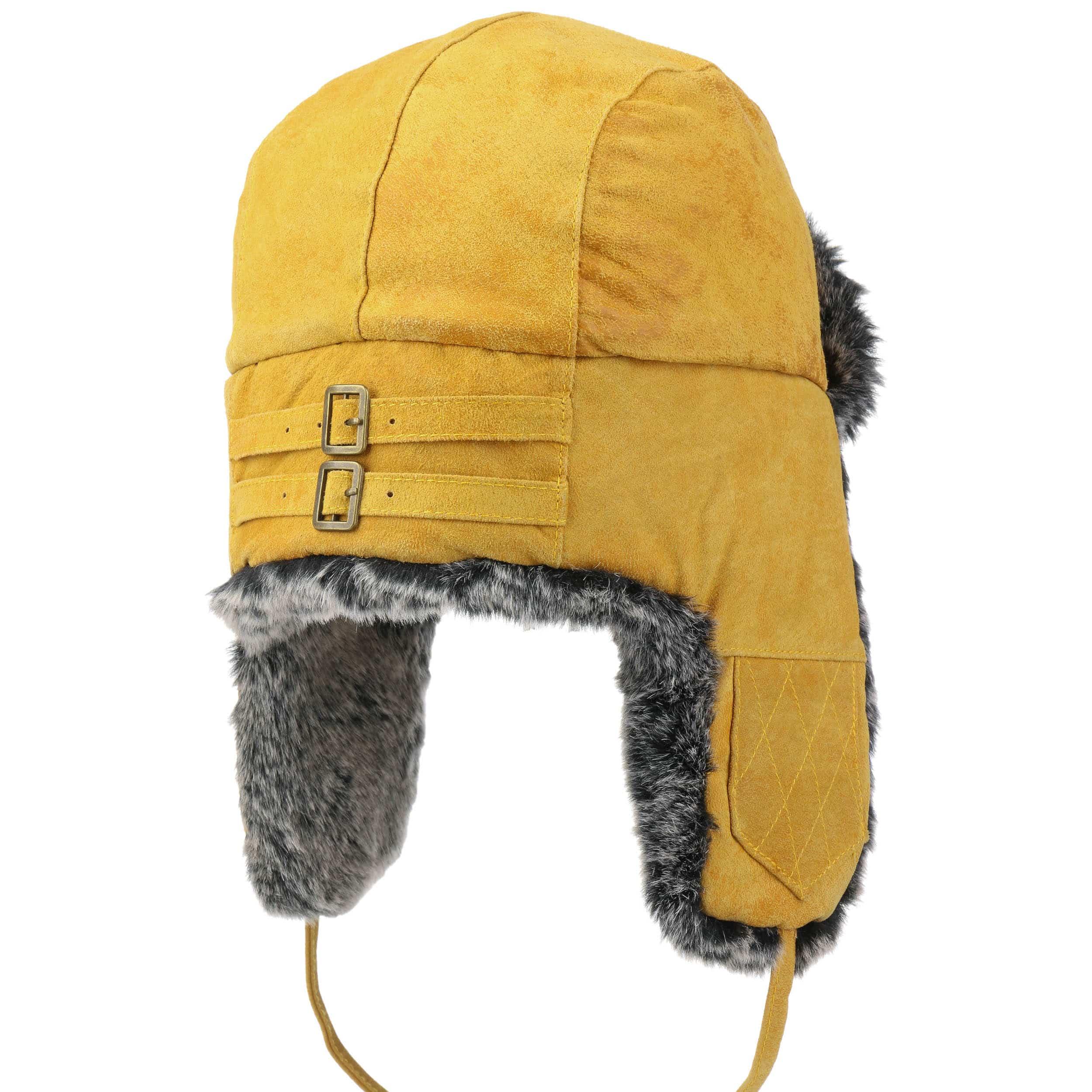 ... Lamont Pigskin Aviator Hat by Stetson - yellow 3 ... 4368dc7b360