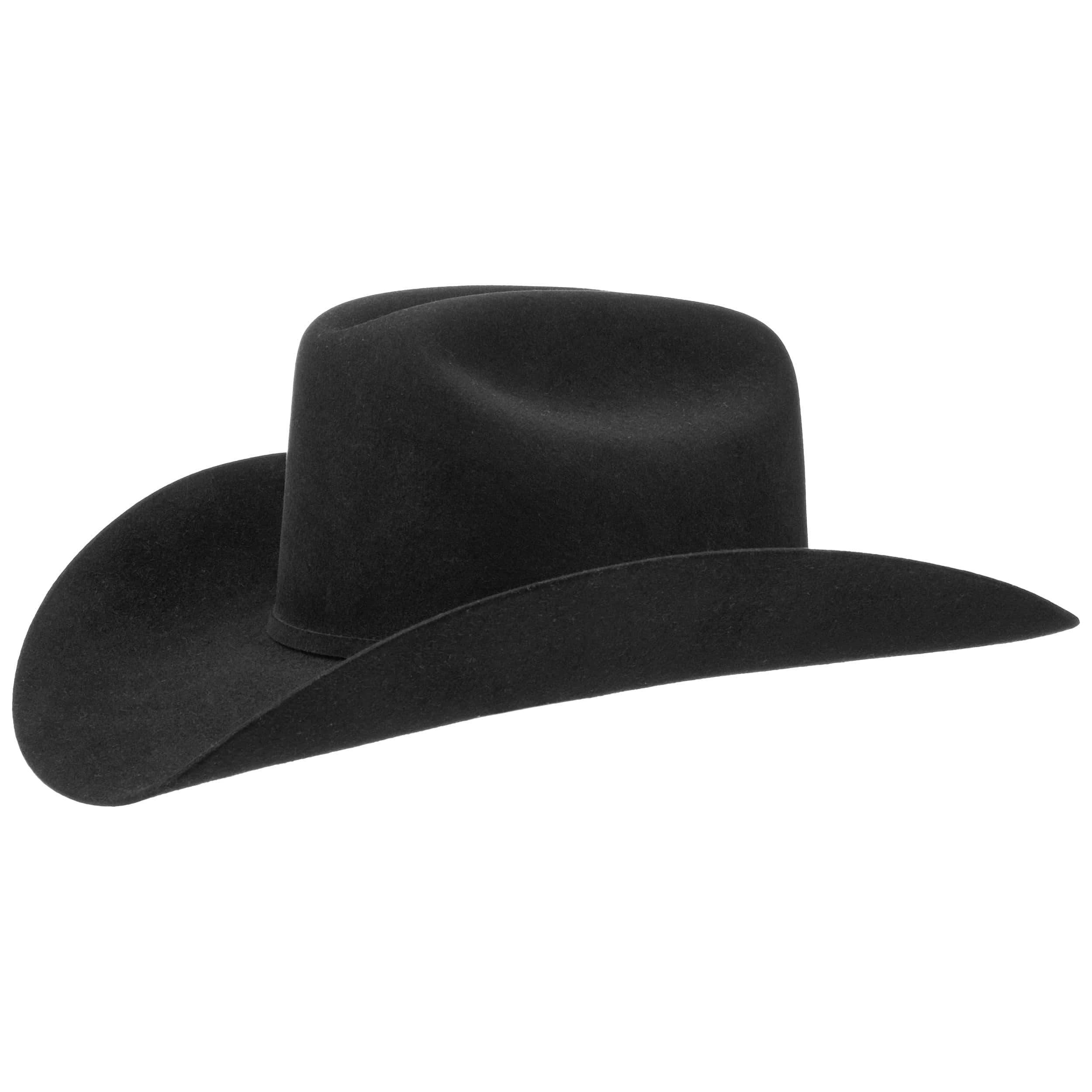 17e2eaaaeaf28 ... Lariat 5X Fur Felt Western Hat by Stetson - black 1 ...