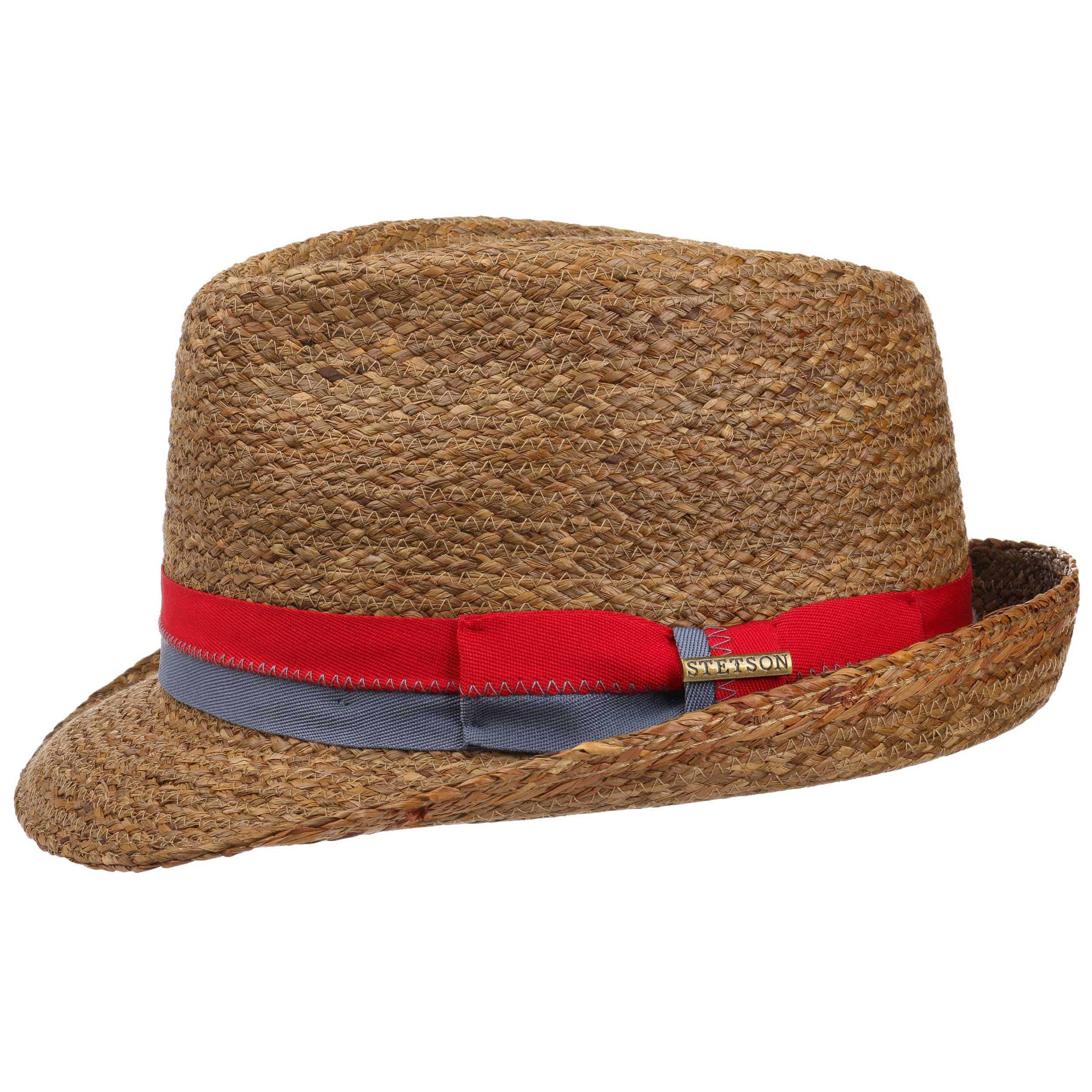 ... Laverne Trilby Raffia Hat by Stetson - brown 1 ... 4b9db852259