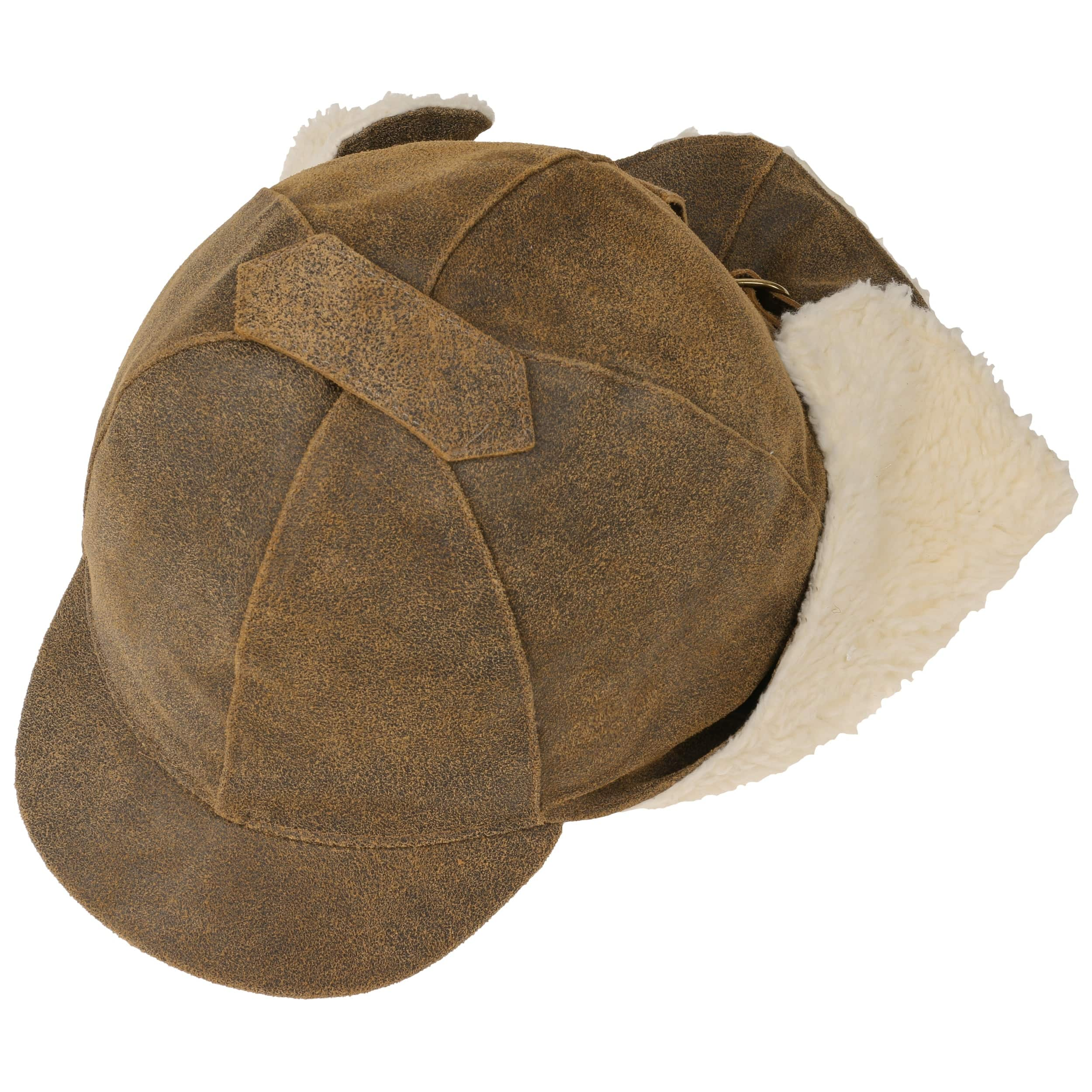 7f5e8a5666f34 Leather Aviator Hat by Lierys - brown 1 ...