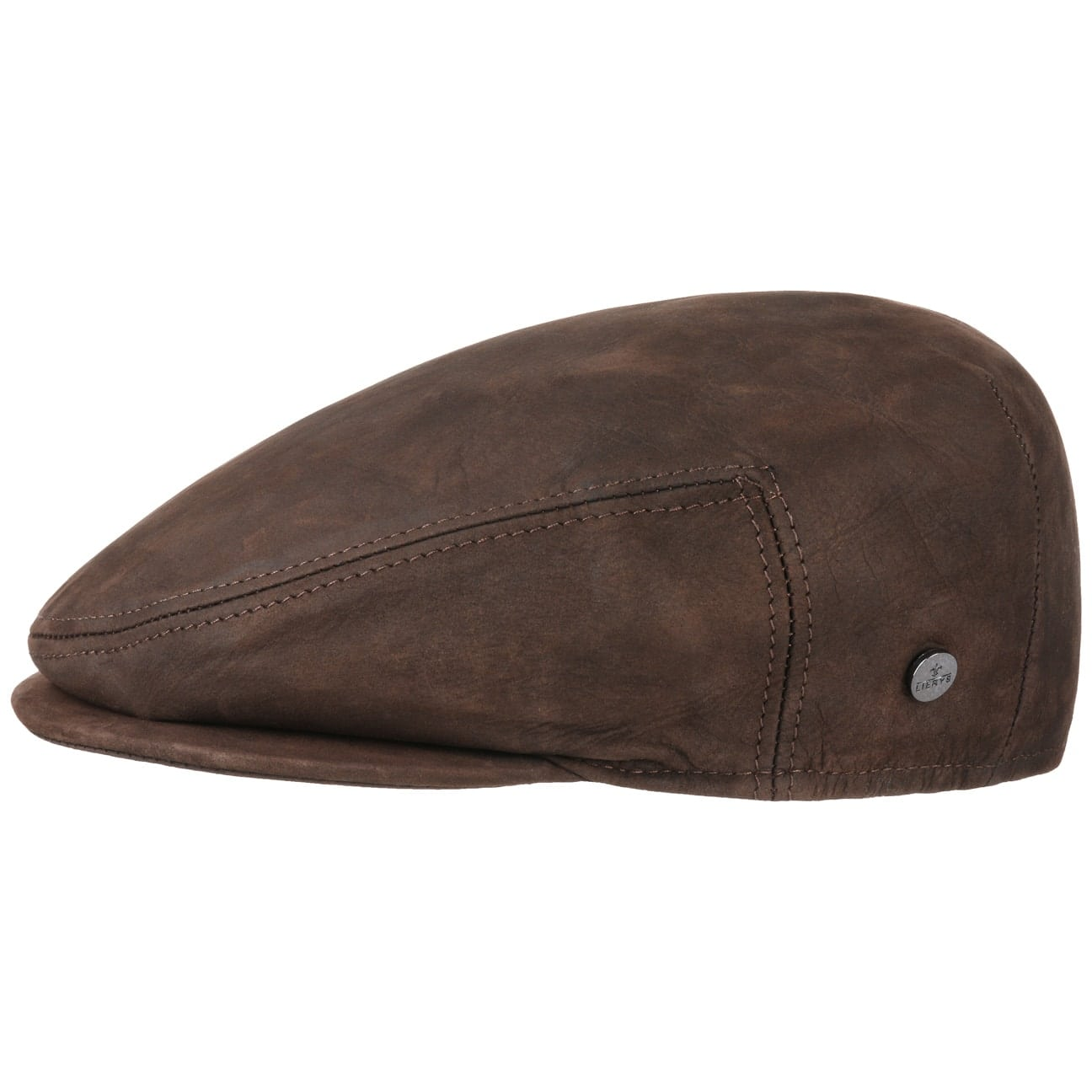 0155a9cd35c2c ... Leather Flat Cap by Lierys - brown 1 ...