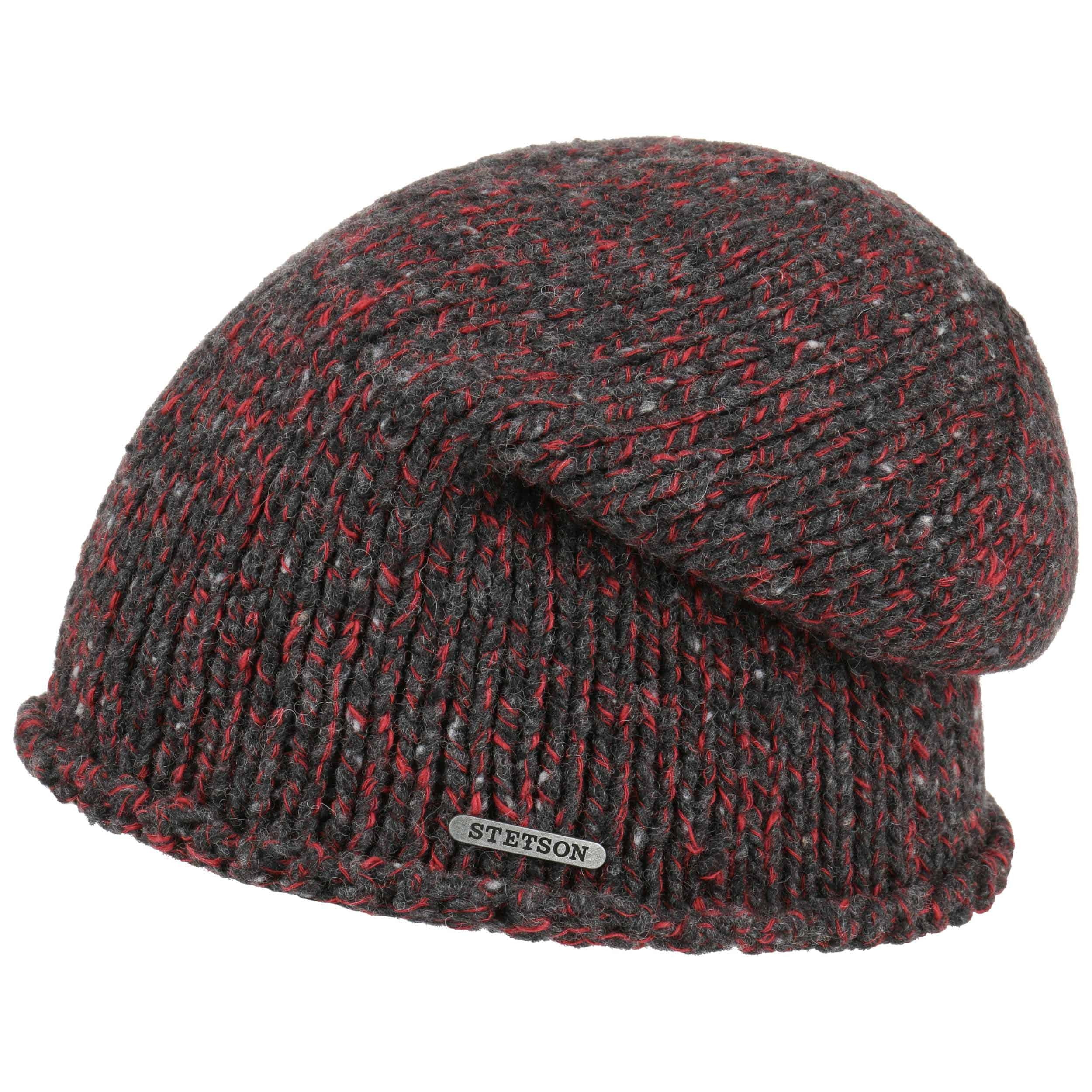 a74cac148c722 ... Leighton Long Beanie by Stetson - anthracite-red 4