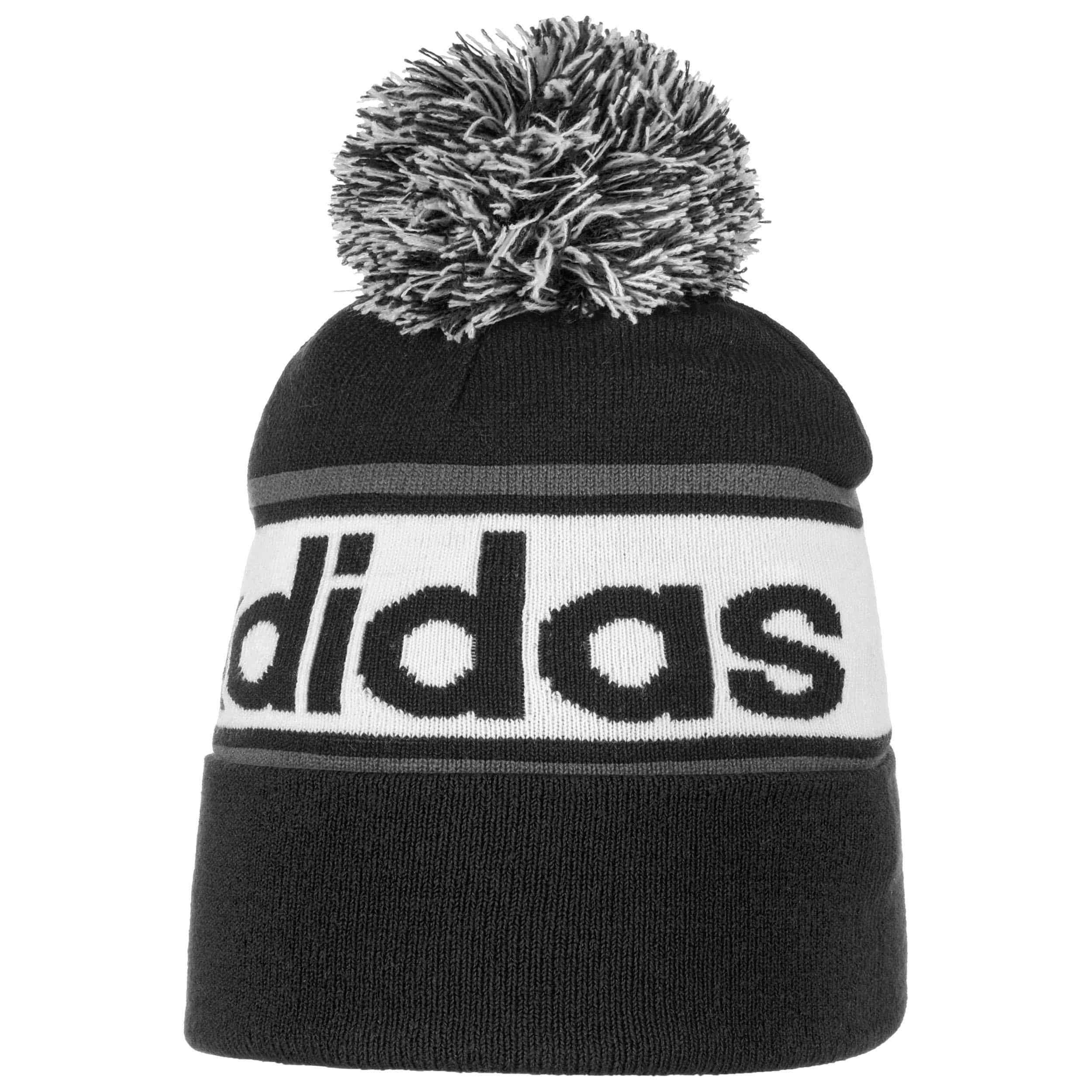 0dfb1c49f40 ... Linear Woolie Beanie Hat by adidas - black 5