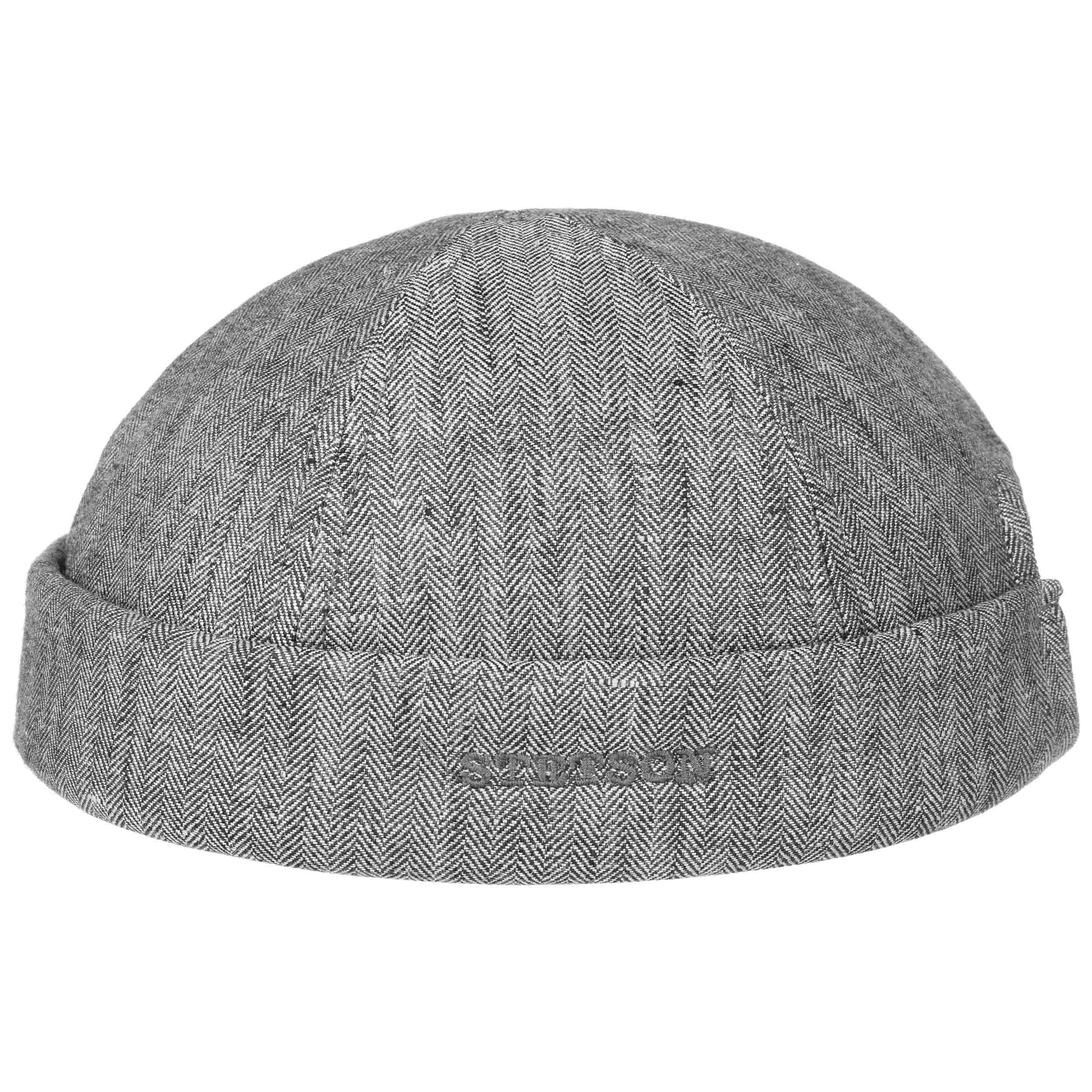 681120a41e1 ... Linen Docker Hat by Stetson - grey 6 ...