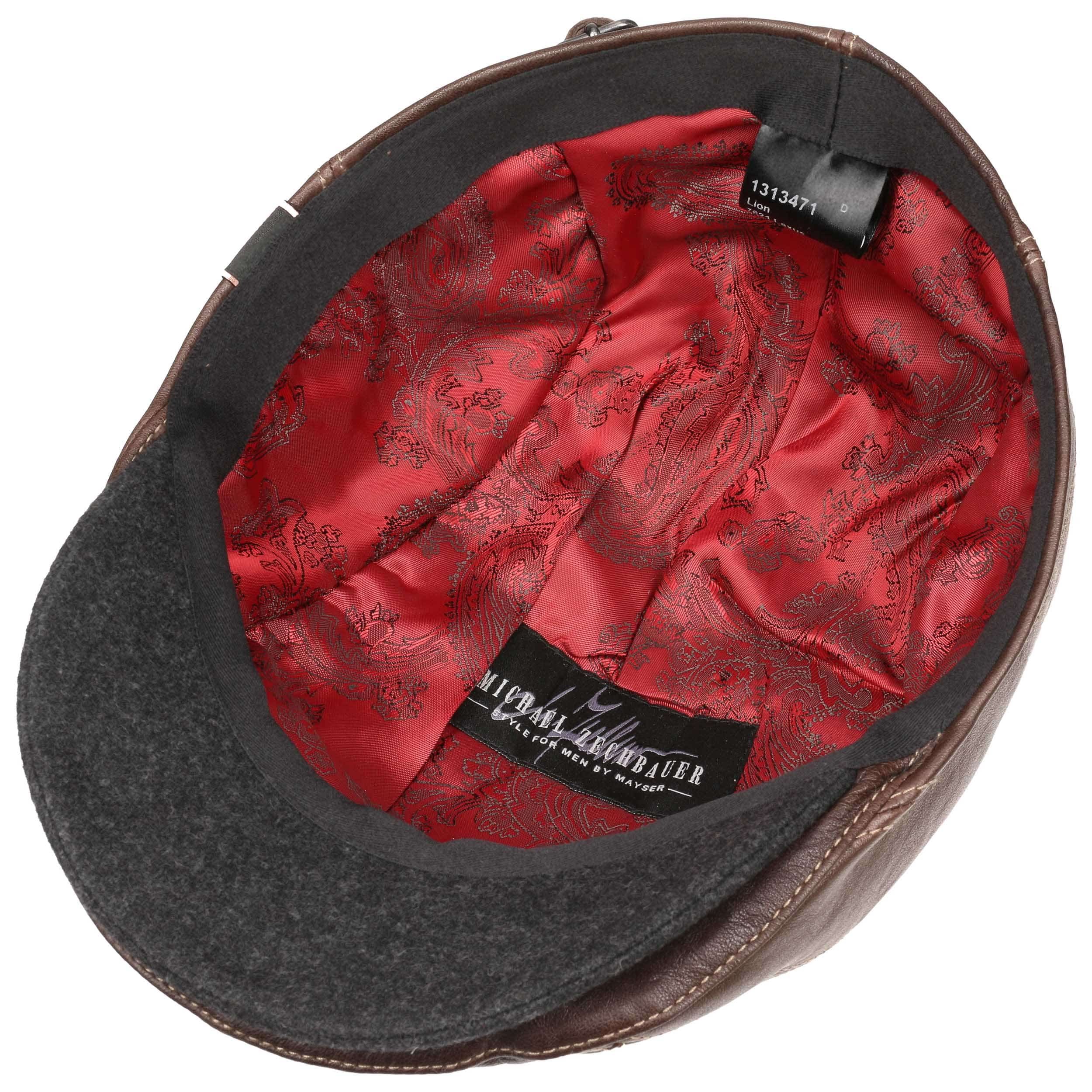 Made in The EU Mayser Leather Flat Cap Zechbauer Men