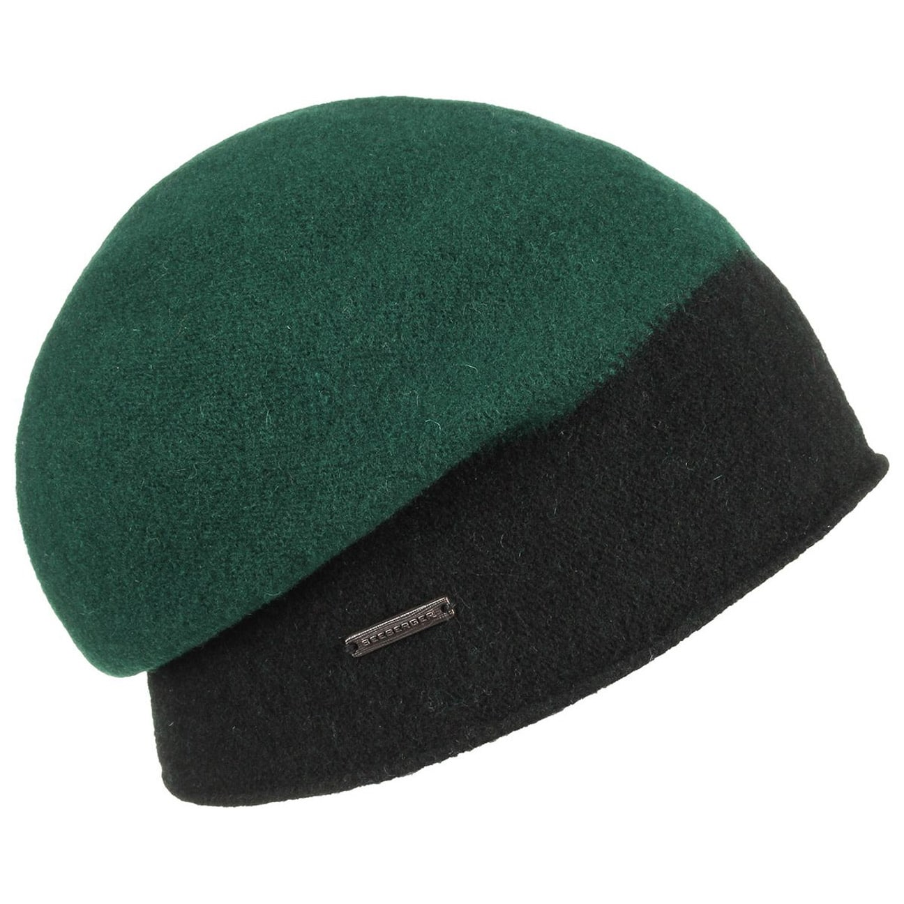 ec9e0c90290 ... Lissy Twotone Milled Wool Hat by Seeberger - green 1