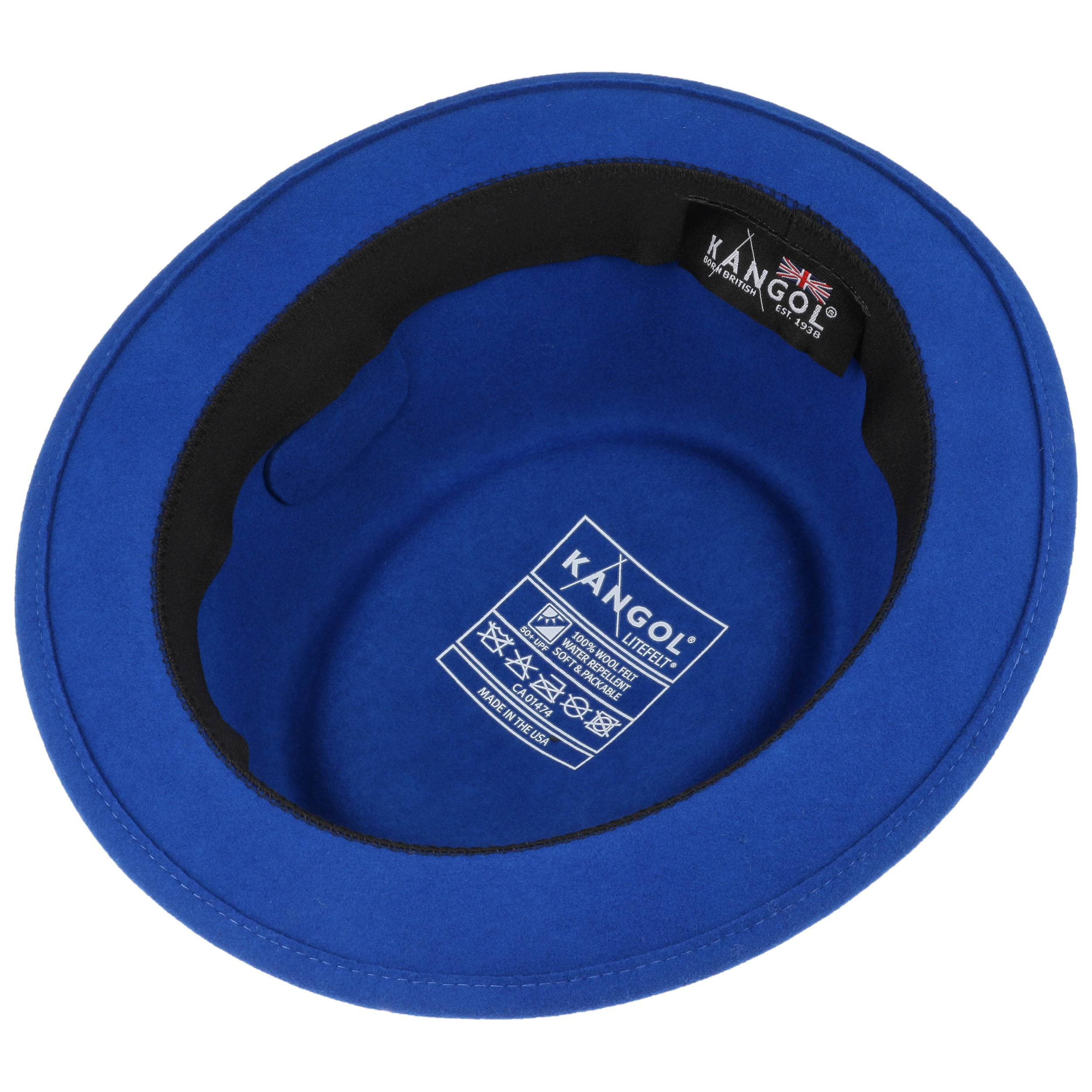 ... Lite Felt Pork Pie Hat by Kangol - royal-blue 2 ... 719383a842be