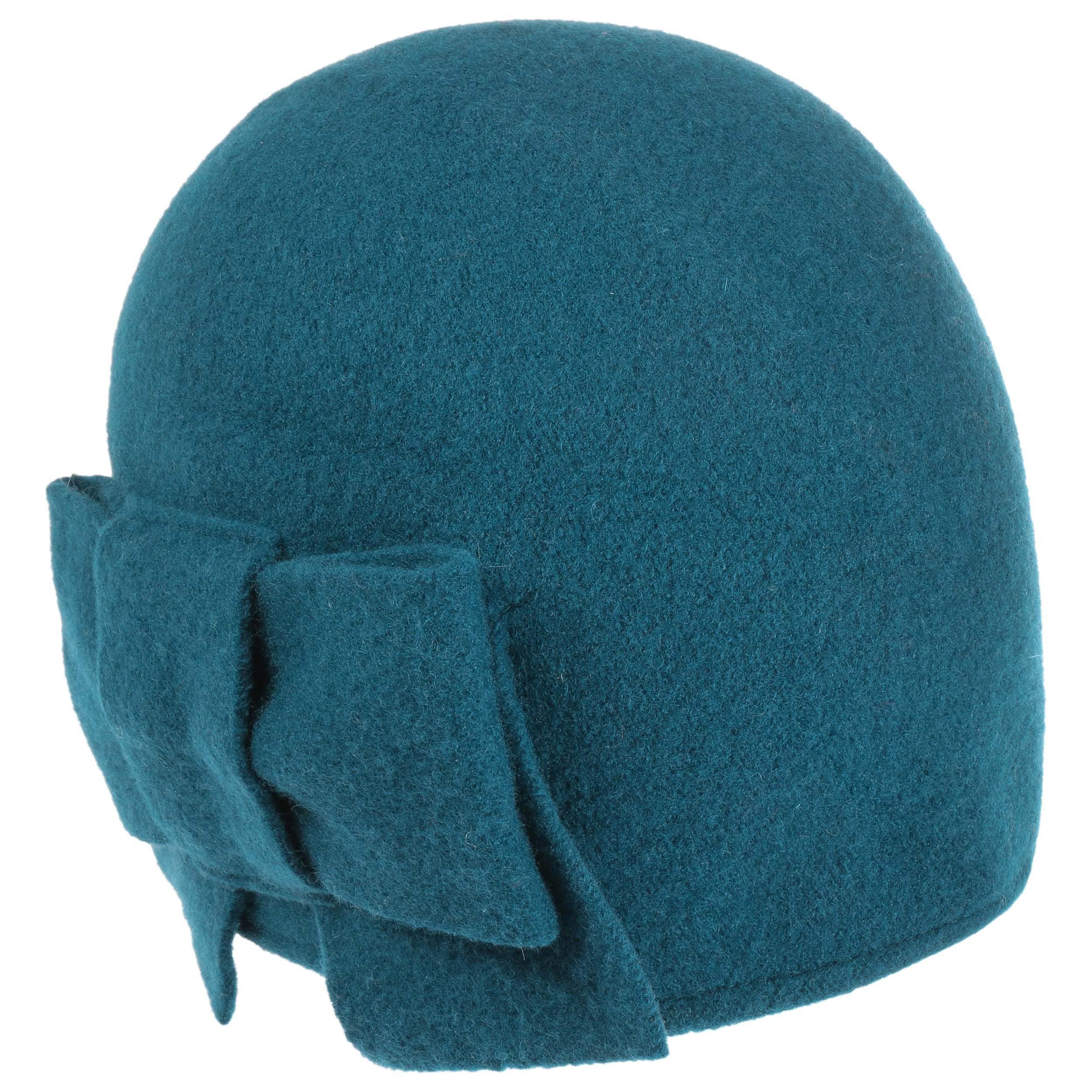 ... Litika Milled Wool Hat Loop by Seeberger - petrol blue 1 ... c18b4f8fce6
