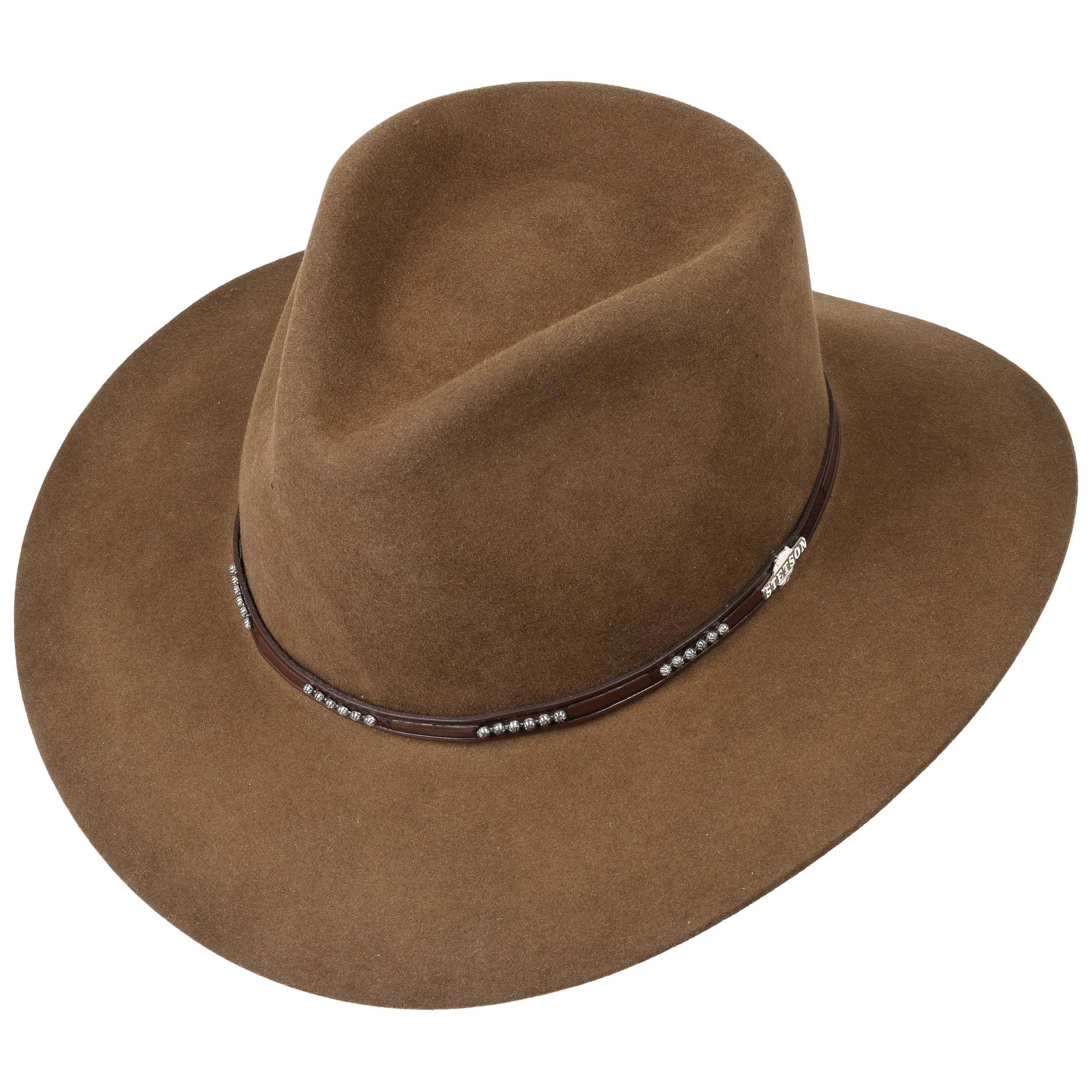 e76a68d510e55 Llano 4X Fur Felt Western Hat by Stetson - brown 1 ...