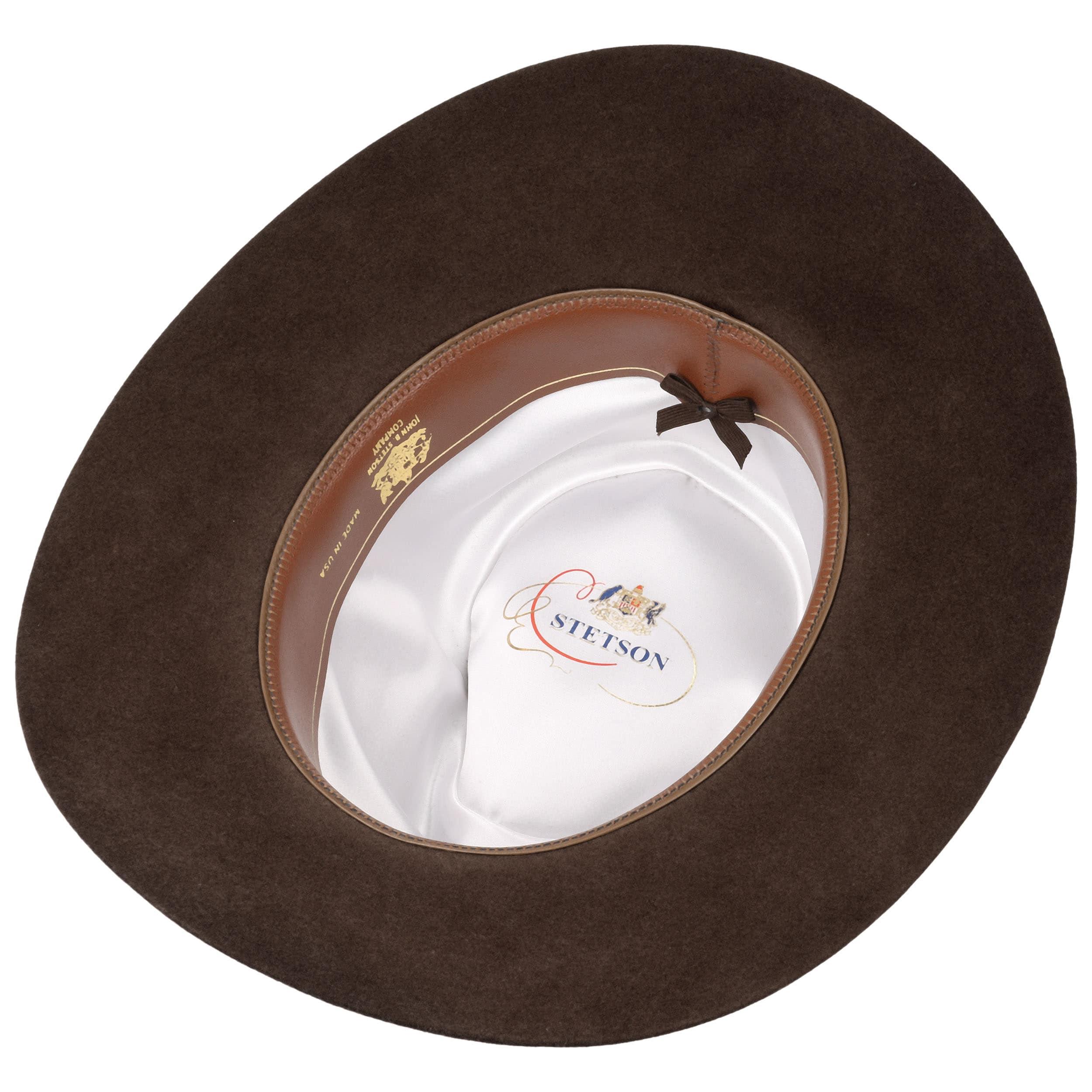 23259d42b8671 ... Llano 4X Fur Felt Western Hat by Stetson - dark brown 2 ...