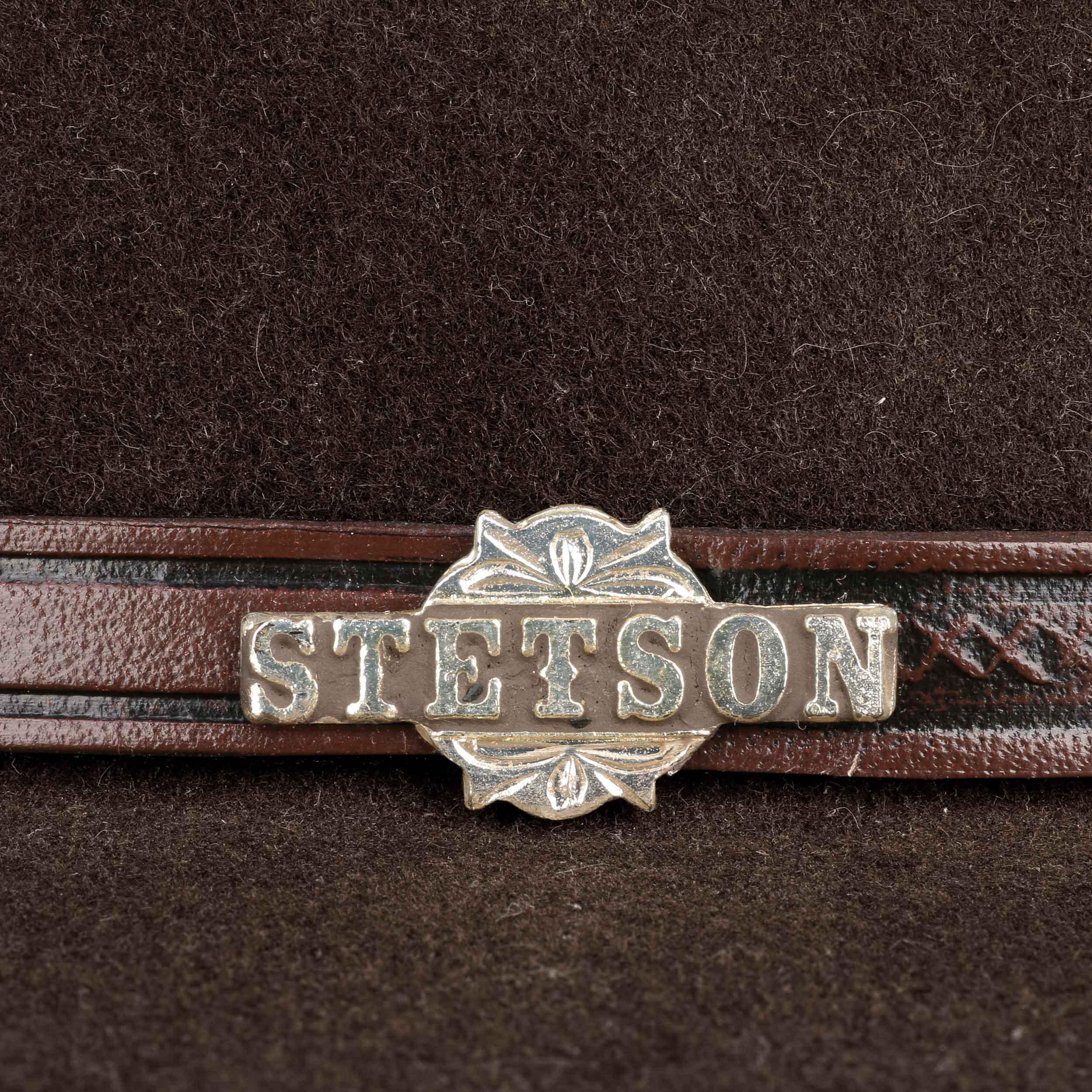 5f050857045e6 ... Llano 4X Fur Felt Western Hat by Stetson - dark brown 3 ...