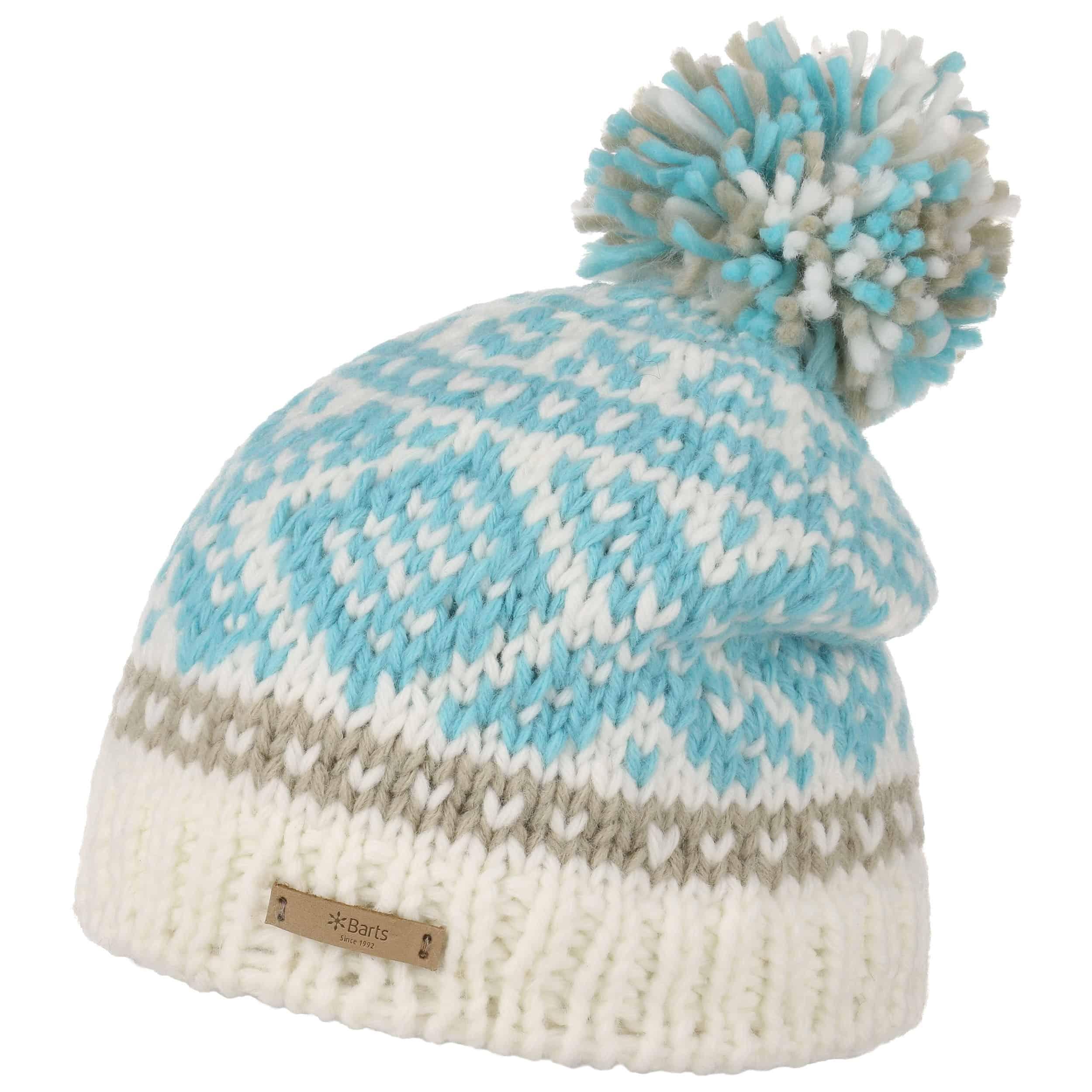 5fe6b88f9f3 ... Log Cabin Pompom Hat by Barts - light blue 1