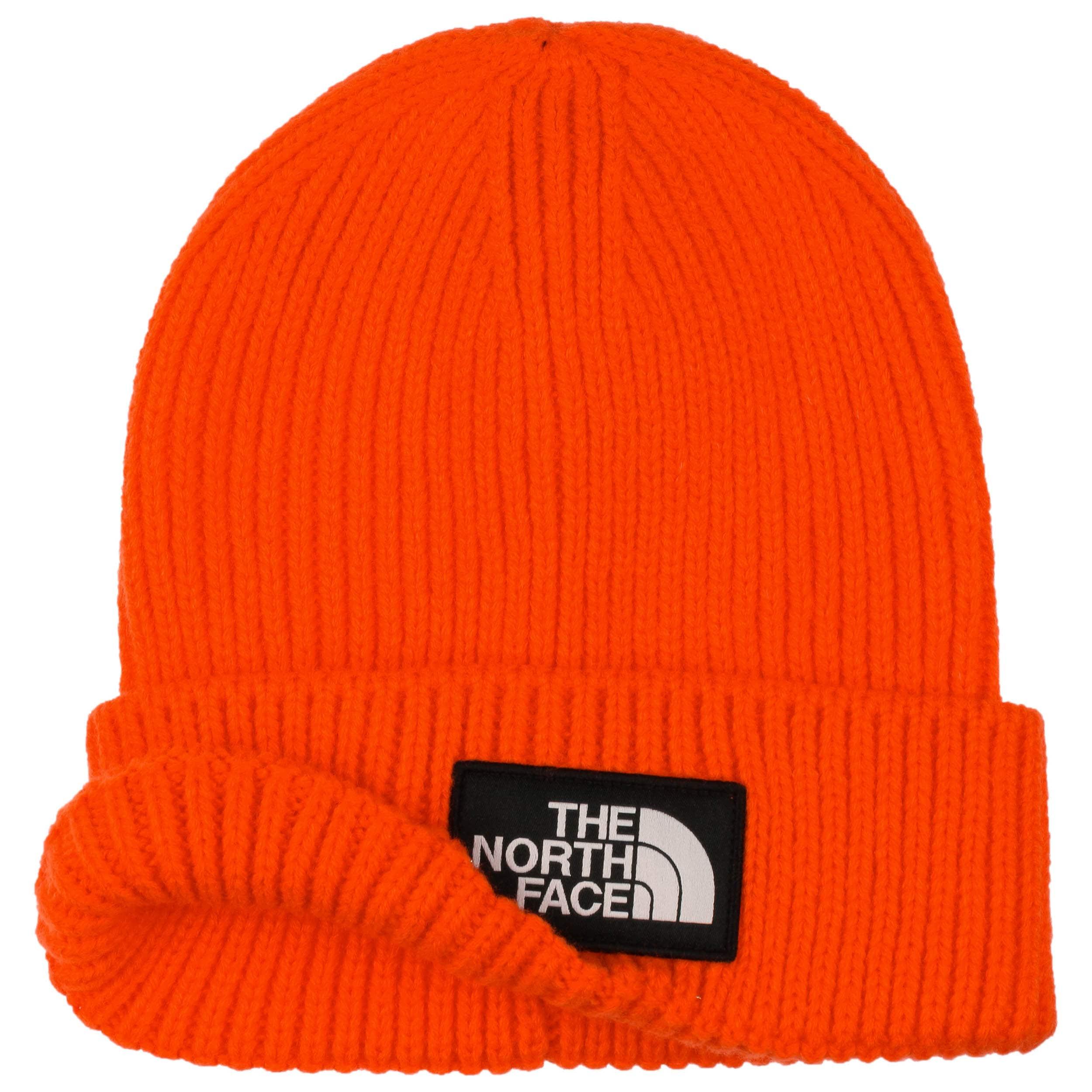 ... Logo Box Beanie Hat by The North Face - orange 1 ... efcbf3d3611