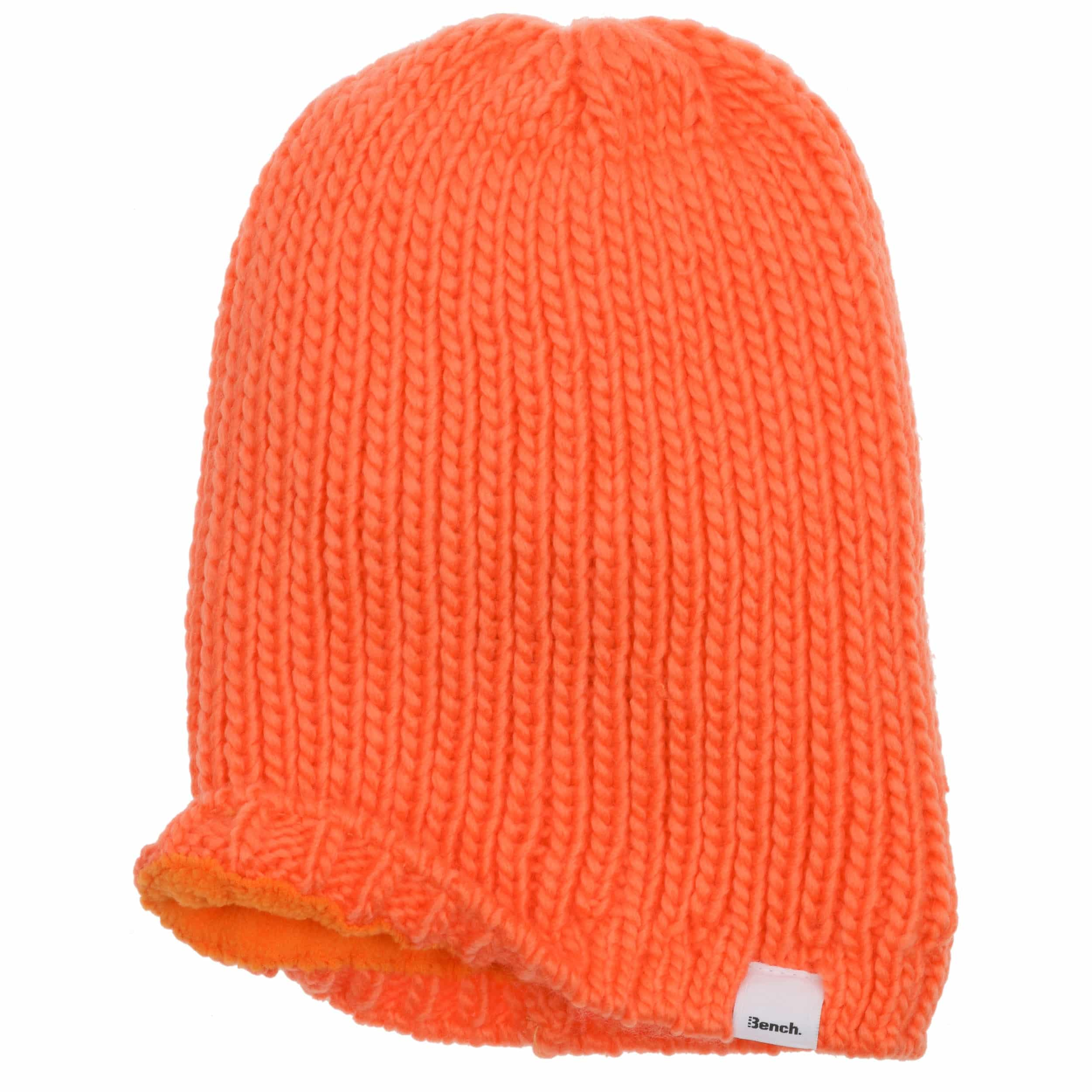 102daf6d660 ... Long Beanie Knit Hat by Bench - orange 1 ...