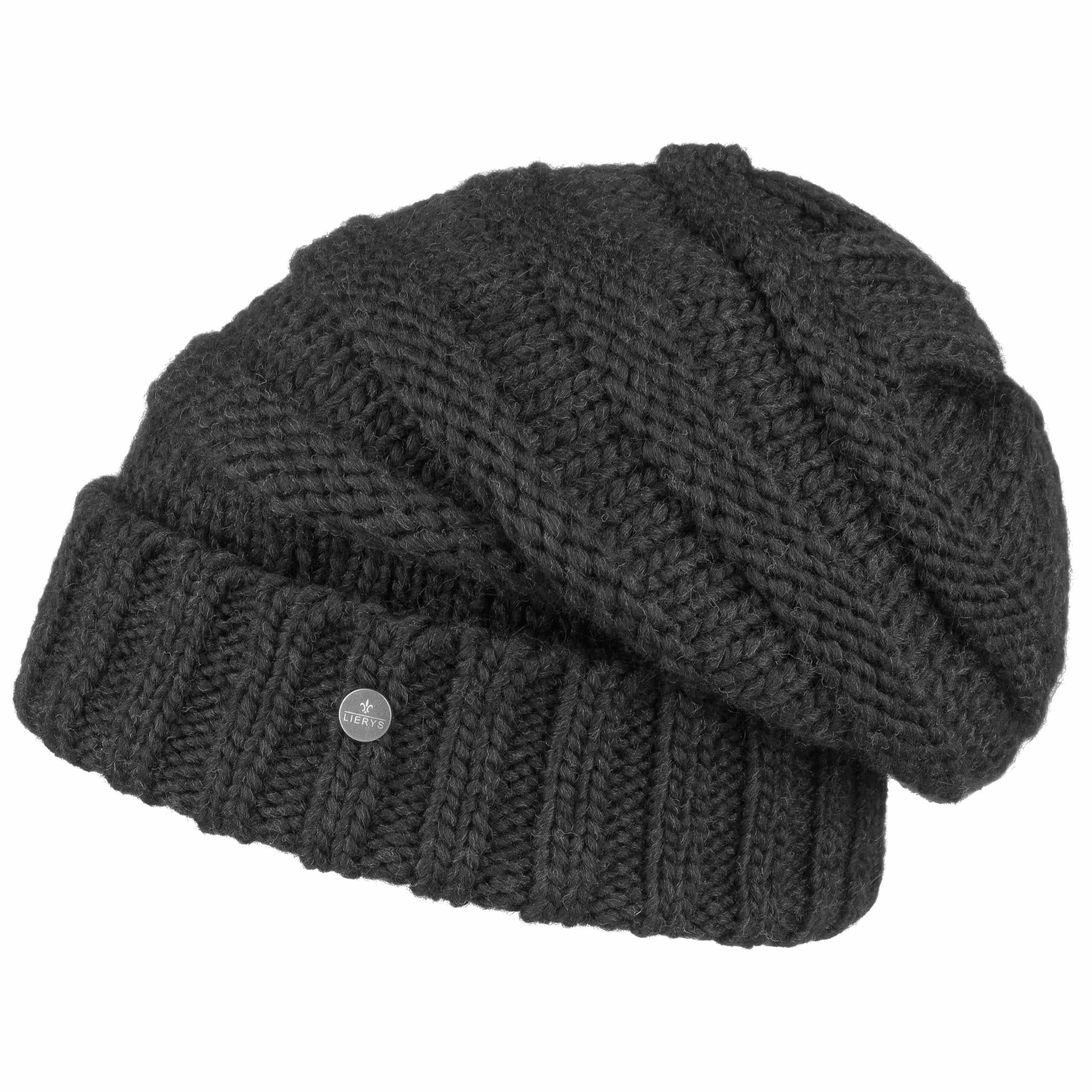 ... Long Beanie Knit Hat by Lierys - black 1 ... a813ab091c6