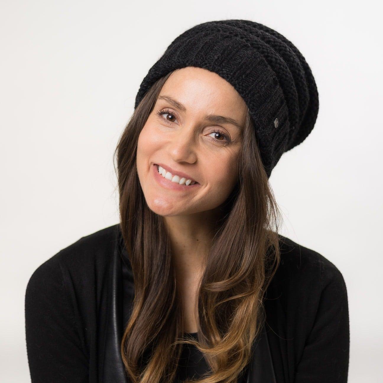 5573fcf05bd491 Long Beanie Knit Hat by Lierys - 49,95 €
