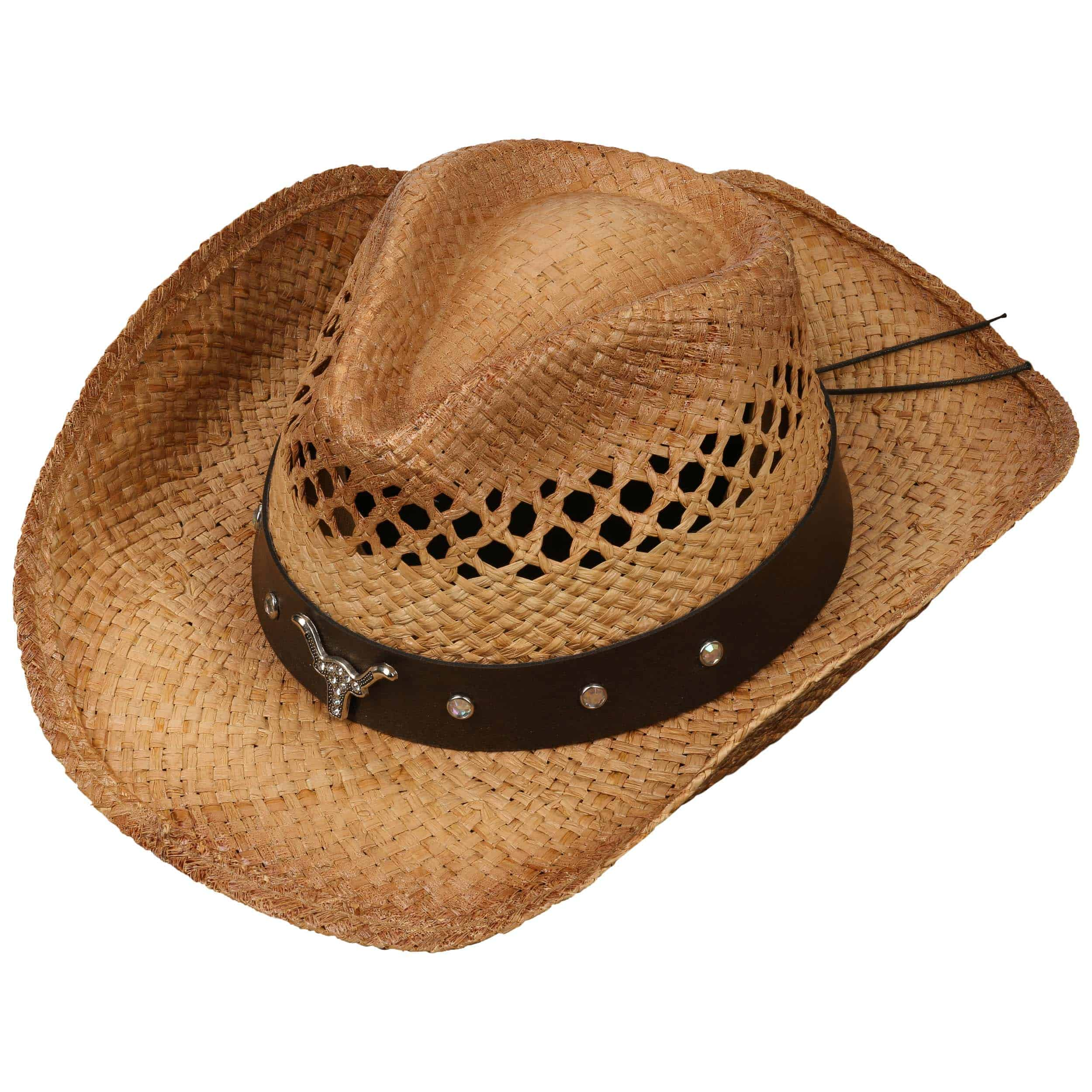 6ae04b01959 Longhorn Western Straw Hat by Conner - nature 1 ...