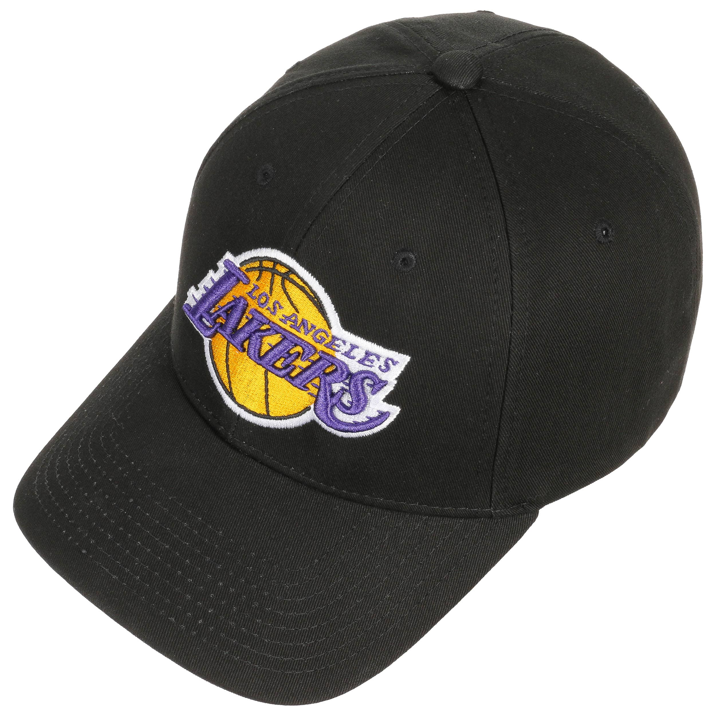 Low Profile Lakers Cap by Mitchell   Ness - black 1 ... 556d86b6000