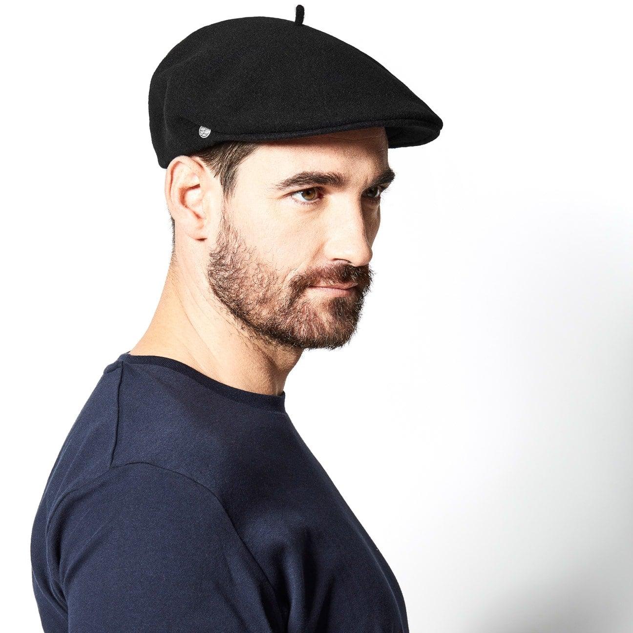 mode designer détaillant pas cher Lyon Beret Flat Cap by Héritage par Laulhère