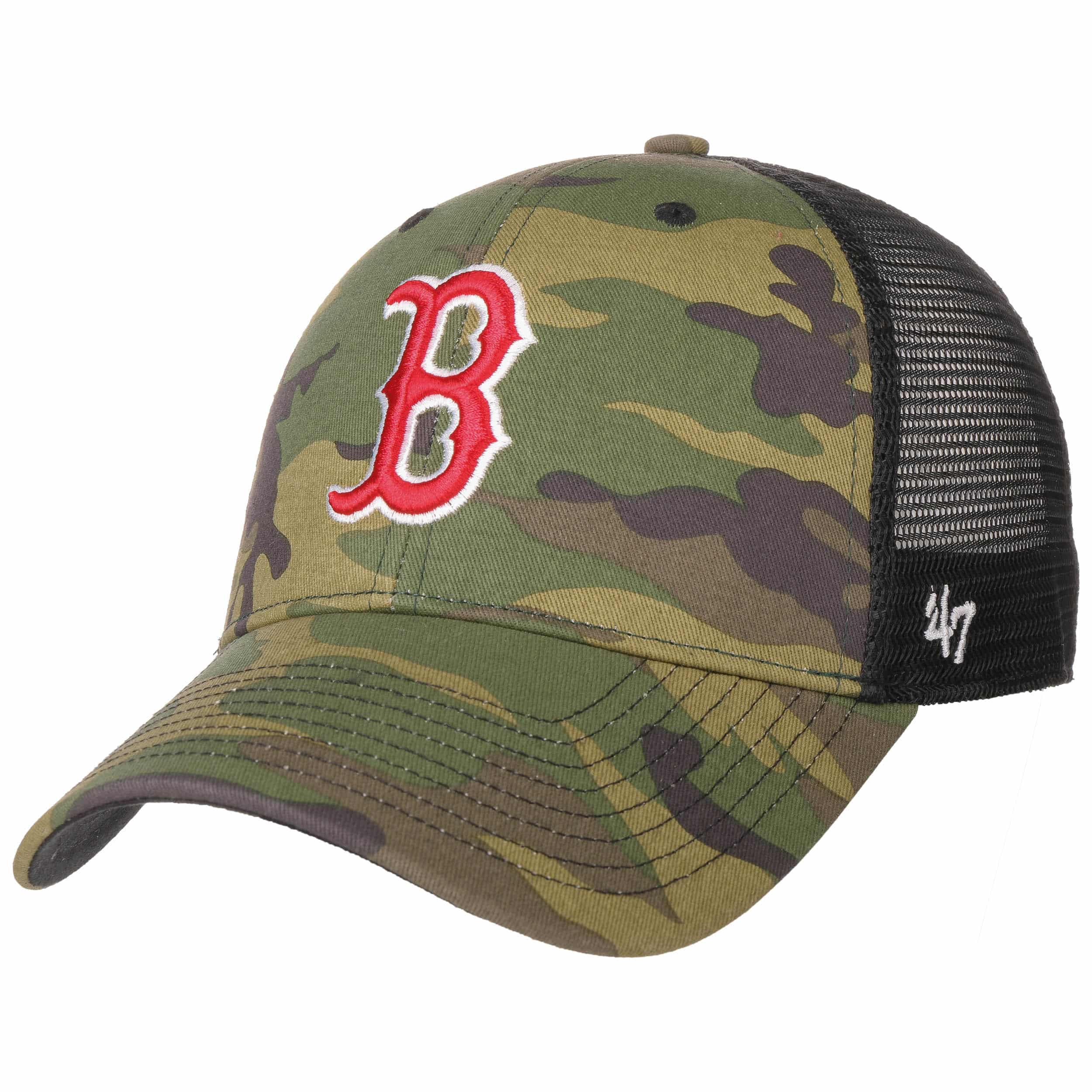 MVP Camo Red Sox Trucker Cap by 47 Brand 96913751744