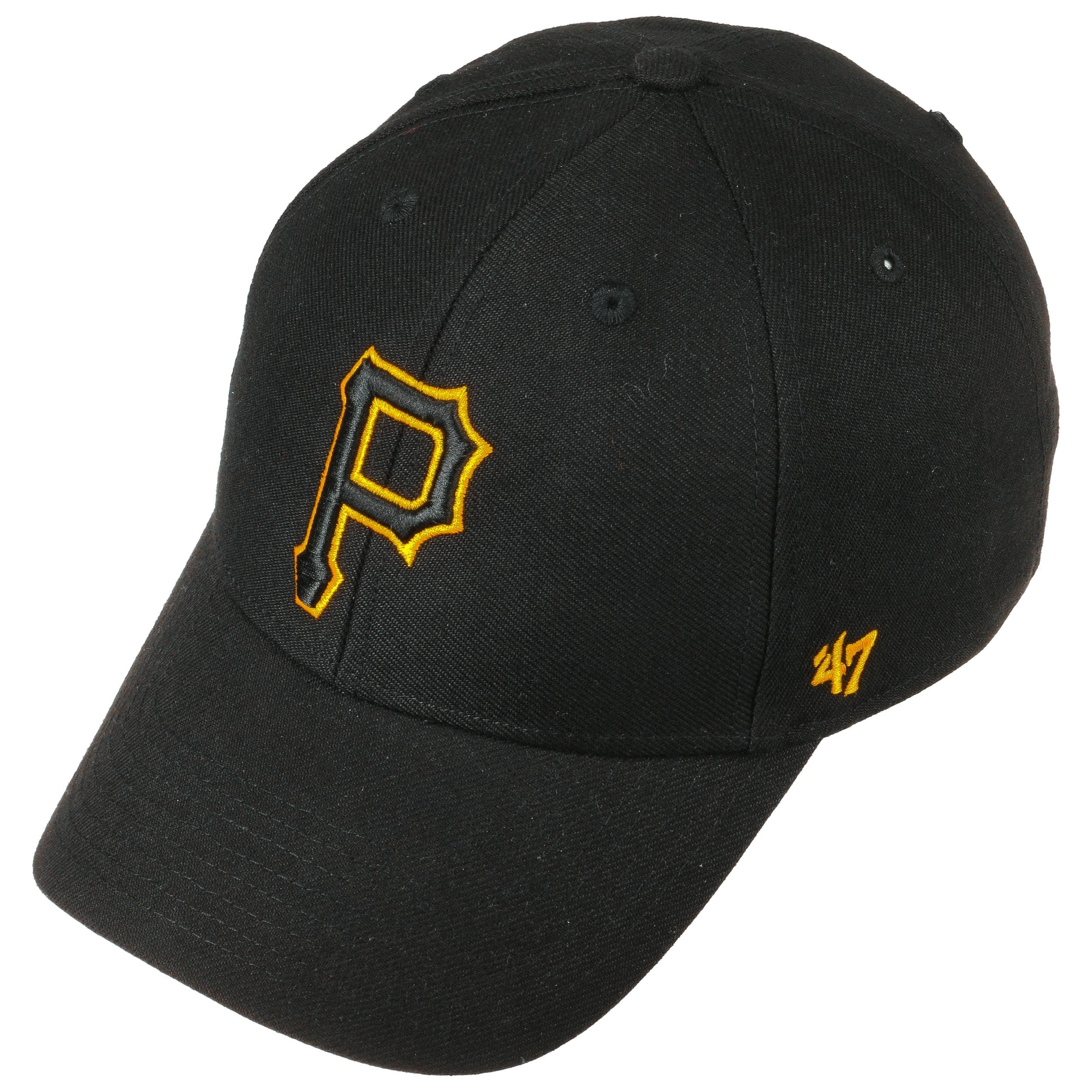 8a7459e848ae7 MVP Pirates Cap by 47 Brand - black-black 1 ...